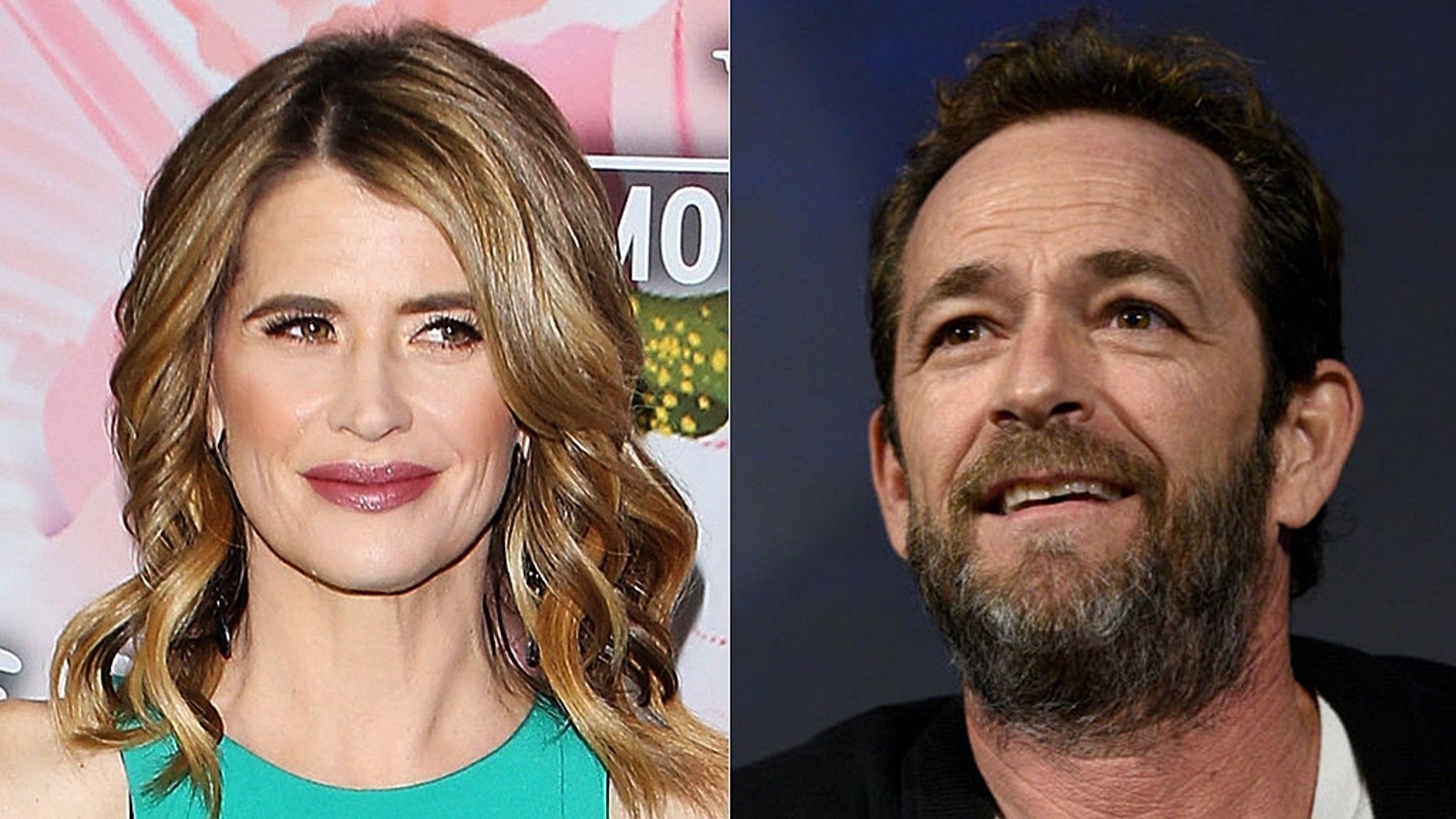 Kristy Swanson (L) paid Luke Perry a sweet tribute on Twitter on Friday.