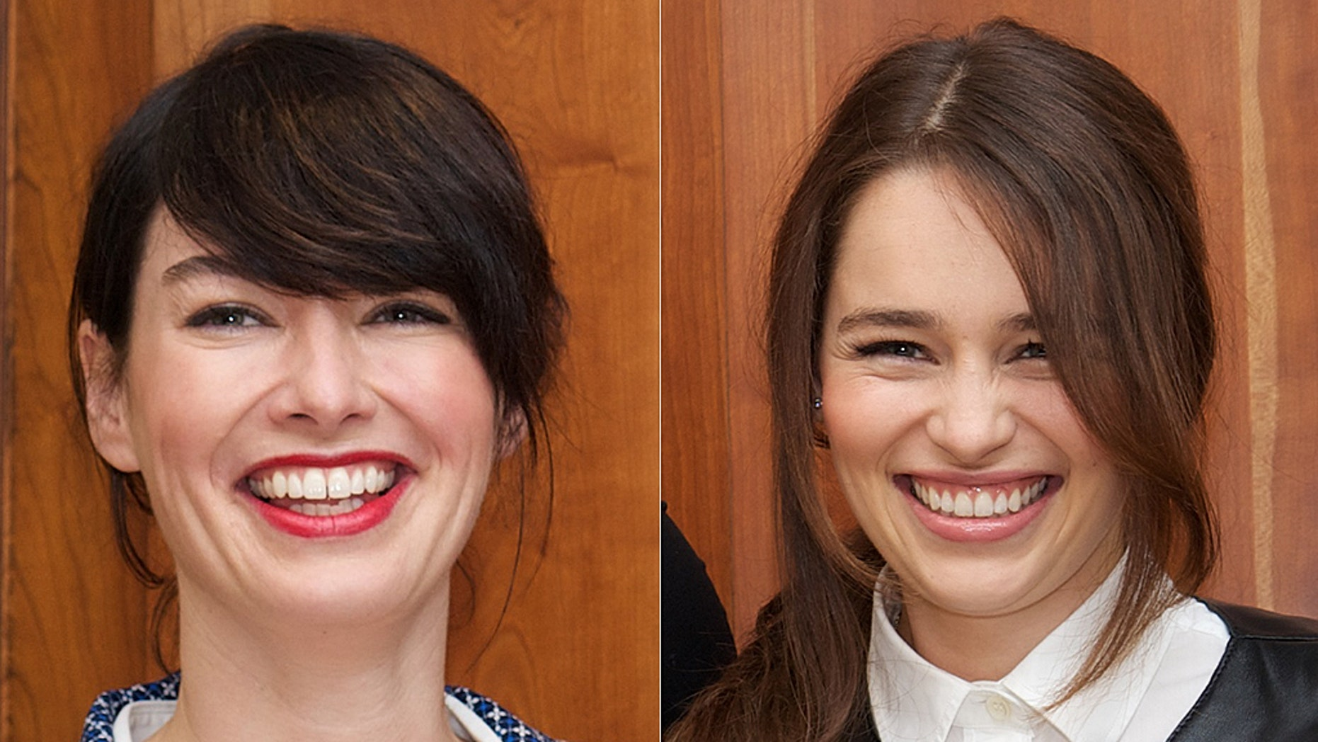 """Lena Headey (L) paid a sweet tribute to her fellow """"Game of Thrones"""" cast member Emilia Clarke."""