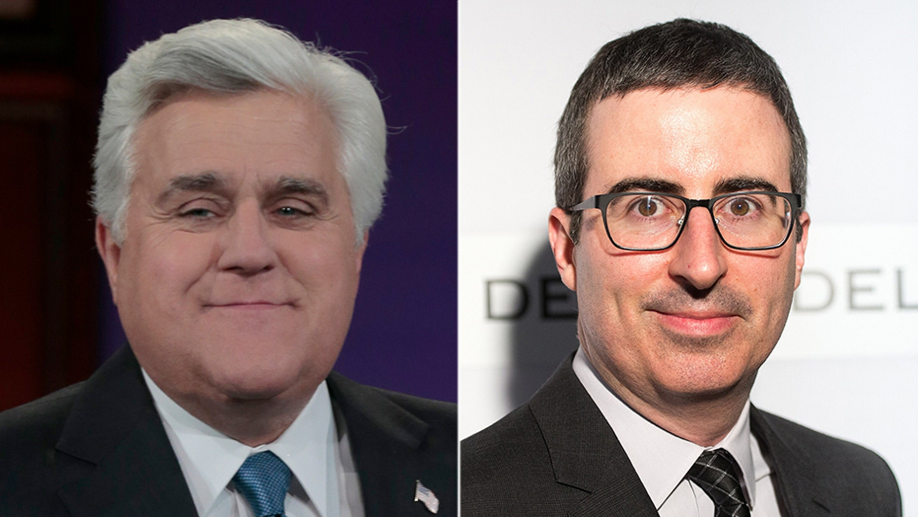 """John Oliver pointed out the hypocrisy in Jay Leno's recent calls for increased """"civility"""" on late-night TV by airing jokes the former """"Tonight Show"""" host made about Monica Lewinsky. (Getty"""