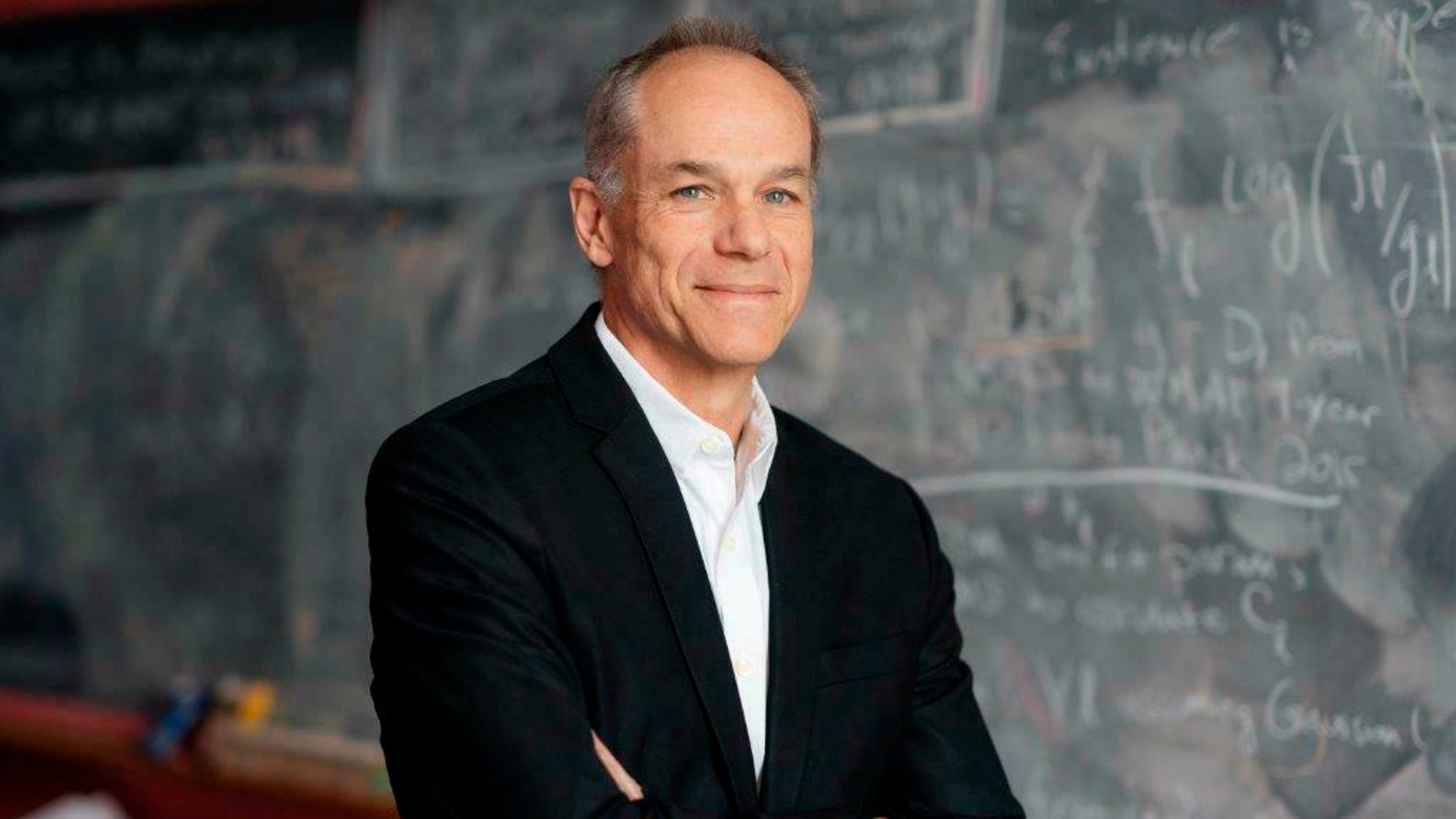 This Feb. 27, 2019, photo provided by Dartmouth College shows physics professor Marcelo Gleiser at Dartmouth College in Hanover, N.H. Gleiser, who has written books on topics ranging from the origin of the universe to how science engages with spirituality, is the winner of the 2019 Templeton Prize, one of the world's leading religion prizes. (Eli Burakian/Dartmouth College via AP)