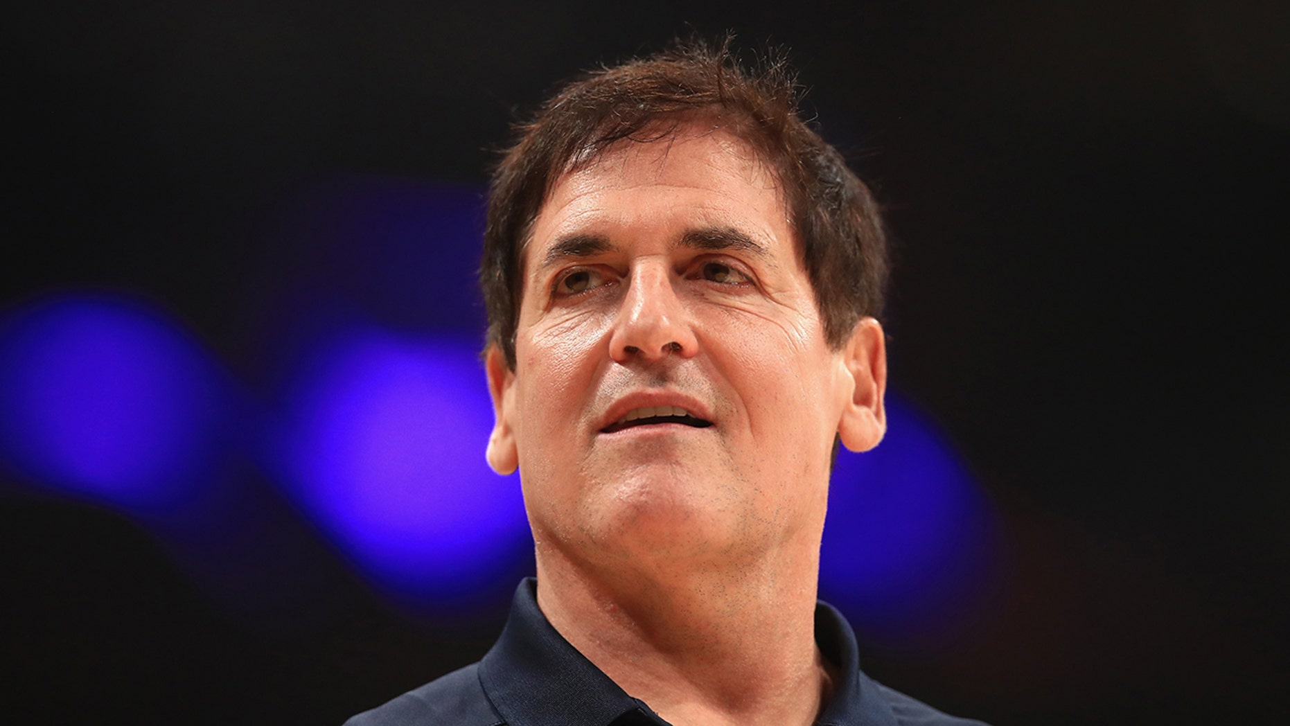 Owner Mark Cuban of the Dallas Mavericks looks at the first half of a game against the Los Angeles Lakers at the Staples Center in Los Angeles in October. (Photo by Sean M. Haffey / Getty Images)