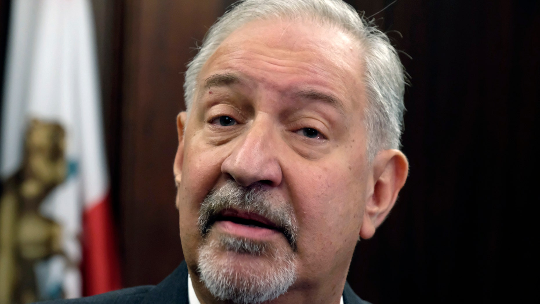 This Friday, Sept. 2, 2016, file photo shows attorney Mark Geragos at a news conference in downtown Los Angeles. (AP Photo/Richard Vogel, file)