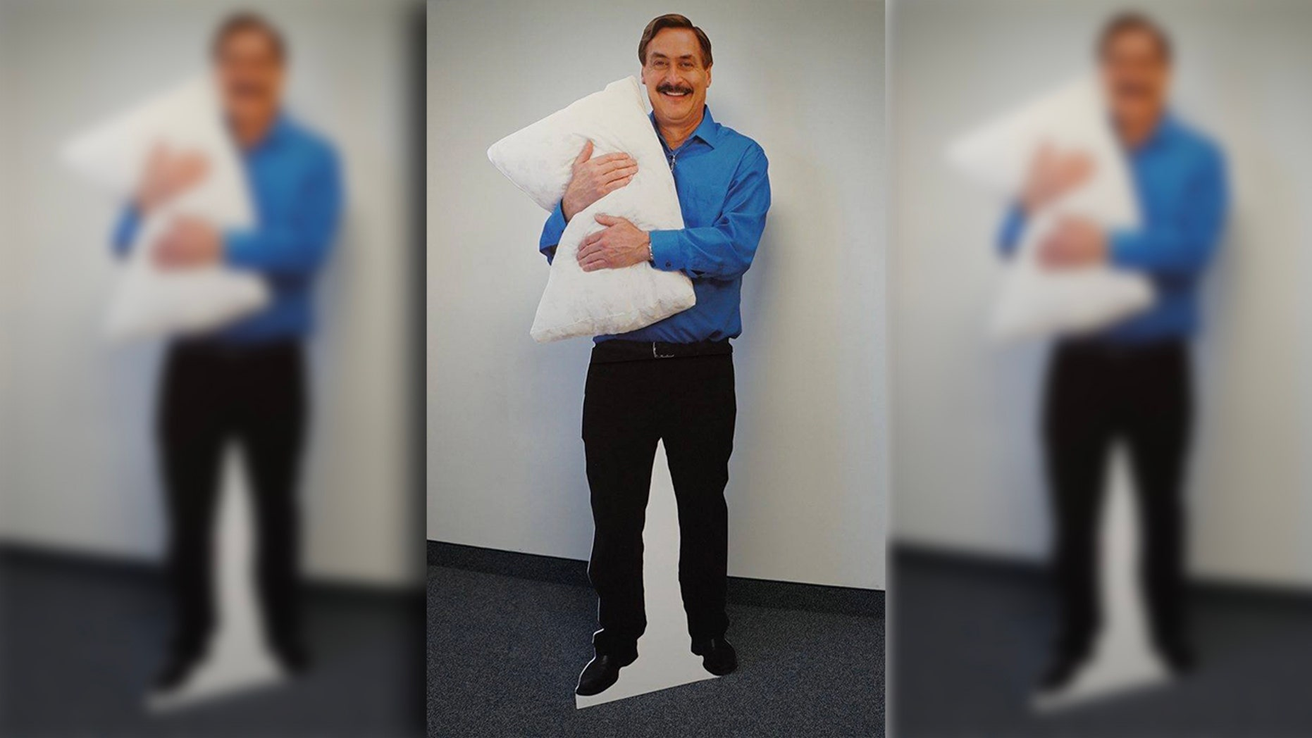 The Jordan Police Department shared a call officers received to check on the welfare of a man who turned out to the cutout of MyPillow CEO Mike Lindell.