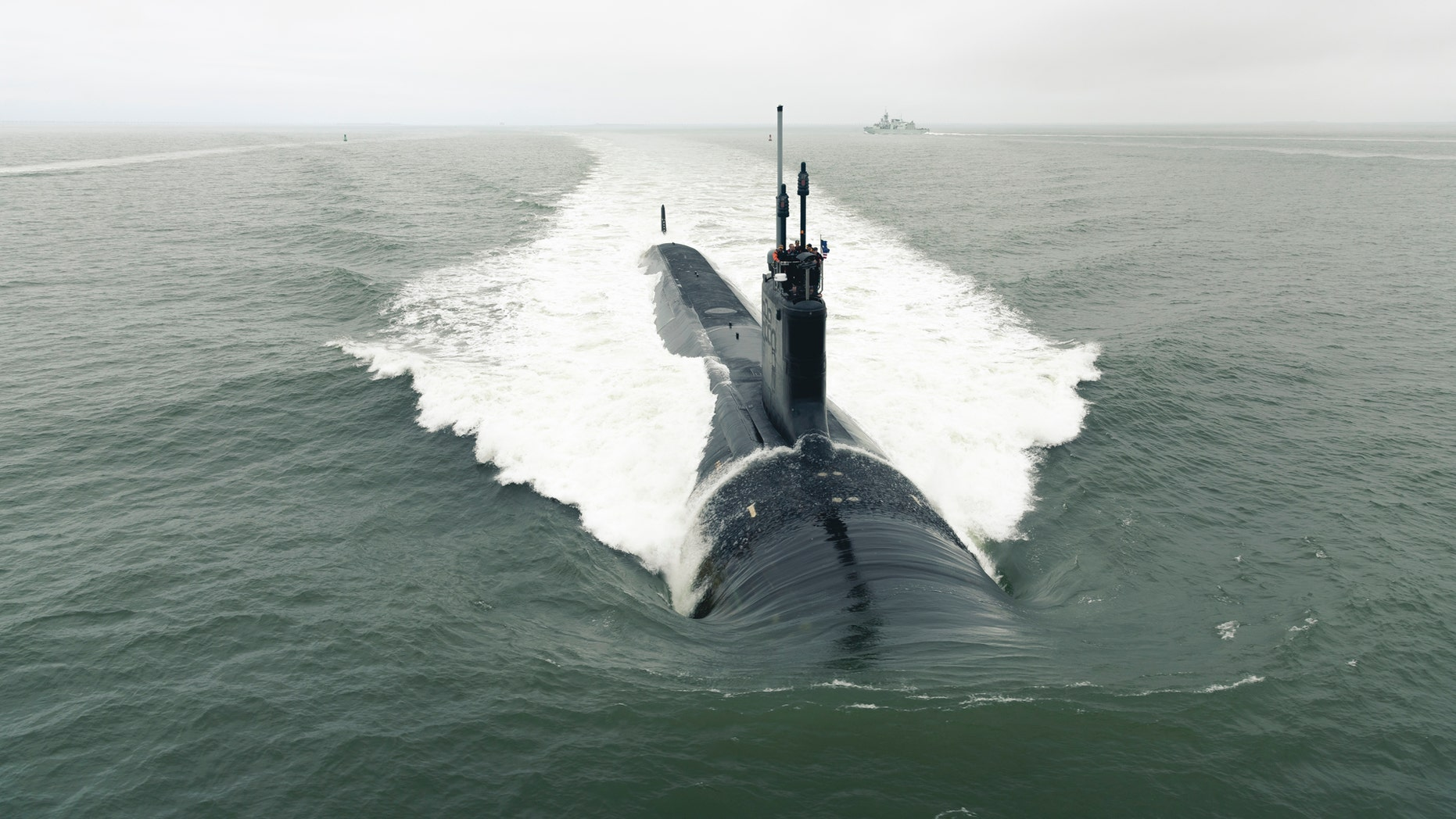 File photo - The Virginia-class attack submarine Pre-Commissioning Unit (PCU) Indiana (SSN 789) departs Newport News Shipbuilding to conduct Alpha sea trials in the Atlantic Ocean - May 22, 2018.