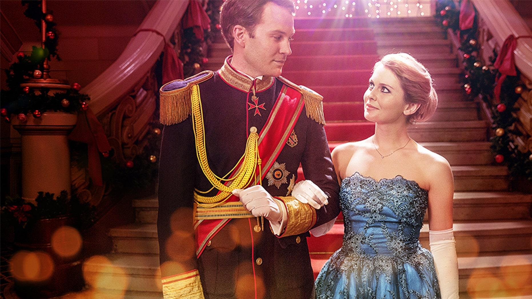 """A Christmas Prince"" stars Ben Lamb and Rose McIver as Prince Richard and Amber."