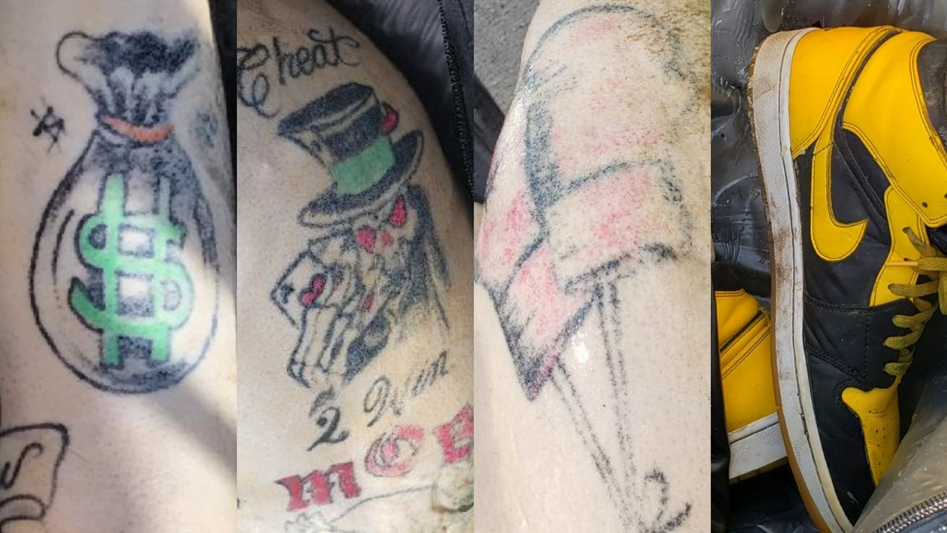 Authorities released photos of a man's tattoos in hopes of identifying the individual whose body was discovered floating in the water off the New York City coast.