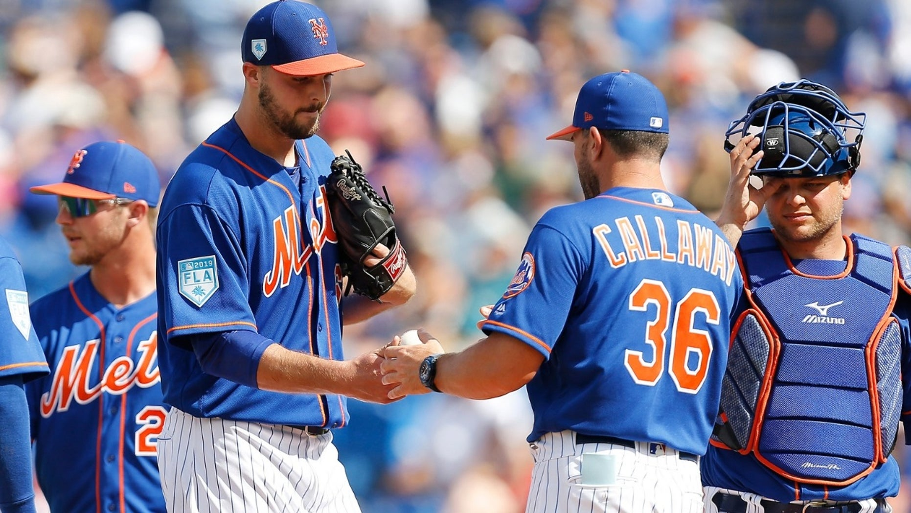 A plane carrying the New York Mets was bound to take off to Syracuse from Florida Monday but it was delayed for more than three hours, reports stated.