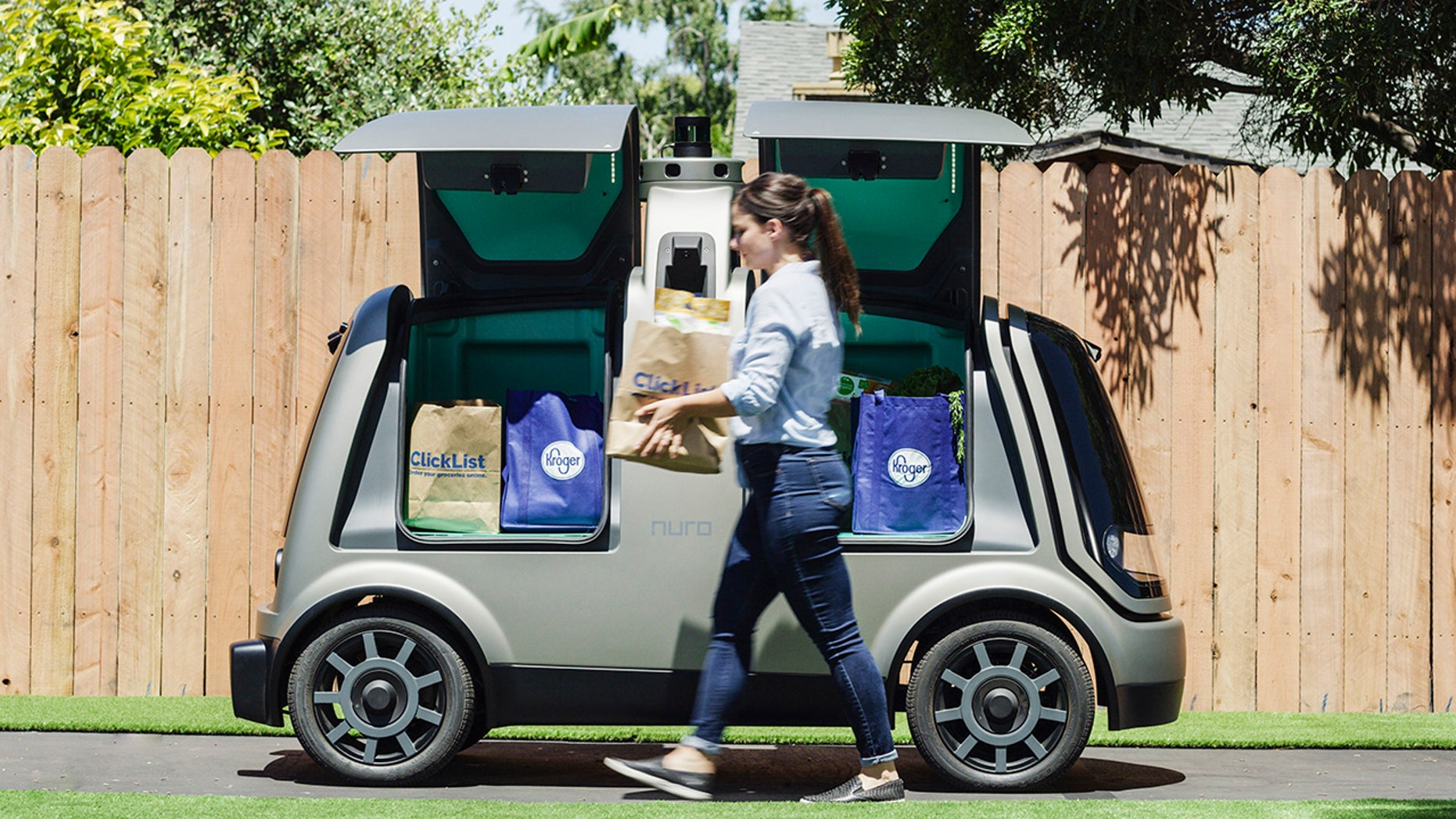 Nuro's new R-1 self driving vehicle