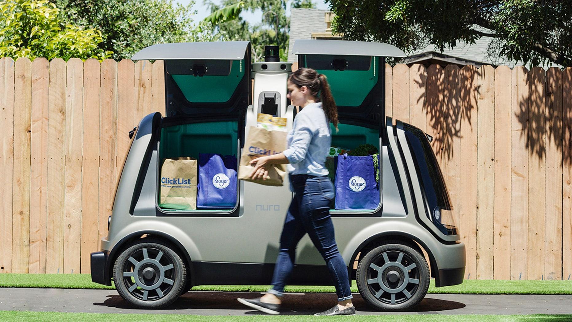 Nuro's new R-1 self pushing vehicle