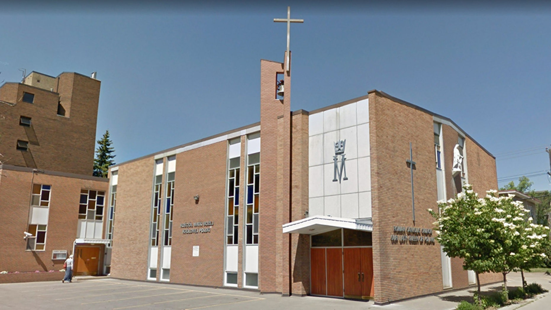 The mystery attack was chased out of the Our Lady Queen of Poland church in Edmonton on March 13, police and officials say.
