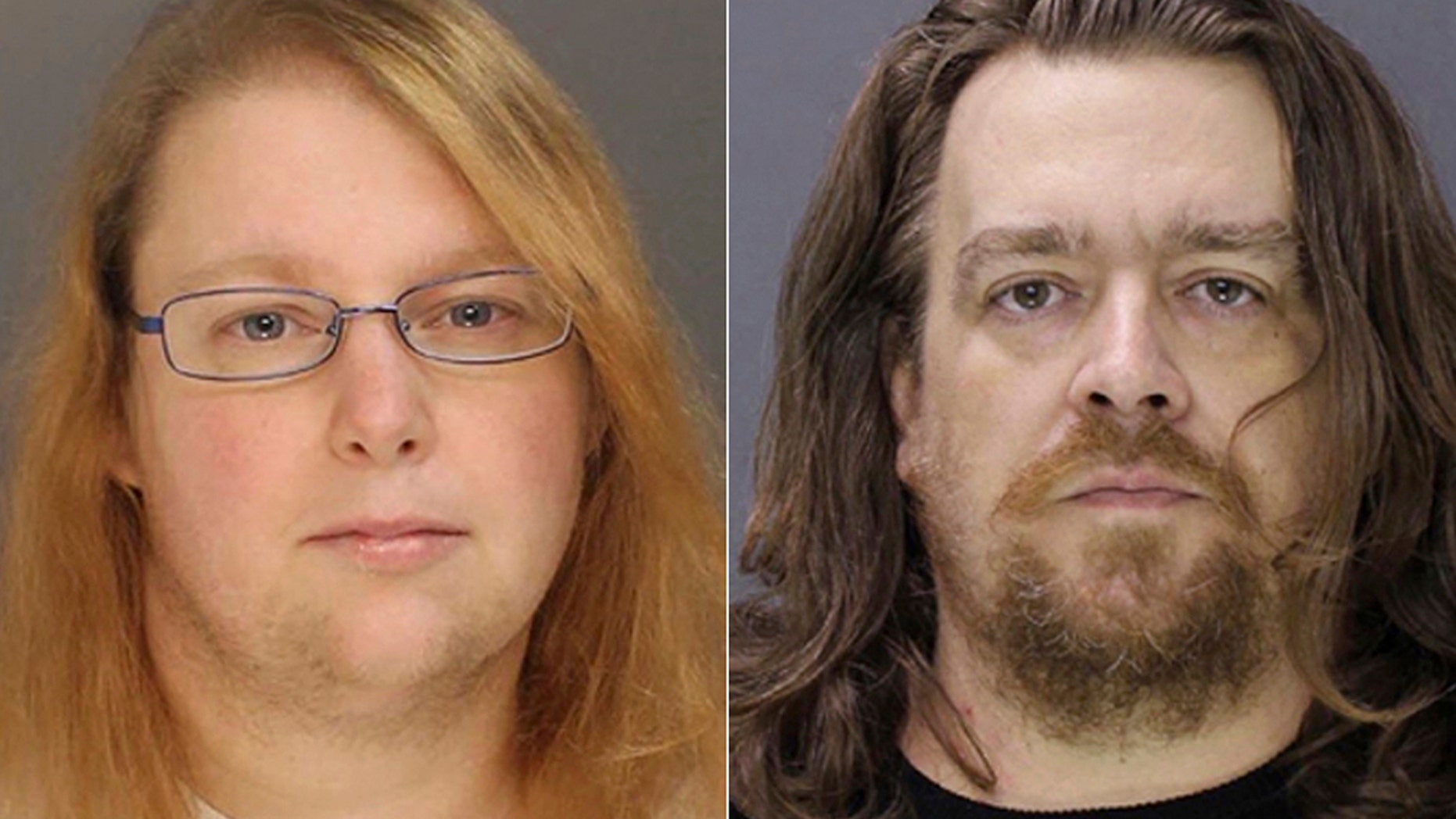 FILE - This combination of file photos provided on Sunday, Jan. 8, 2017, by the Bucks County District Attorney shows Sara Packer, left, and Jacob Sullivan. Sullivan pleaded guilty Tuesday, Feb. 19, 2019, to first-degree murder in the 2016 death of 14-year-old Grace Packer. (Bucks County District Attorney via AP, File)