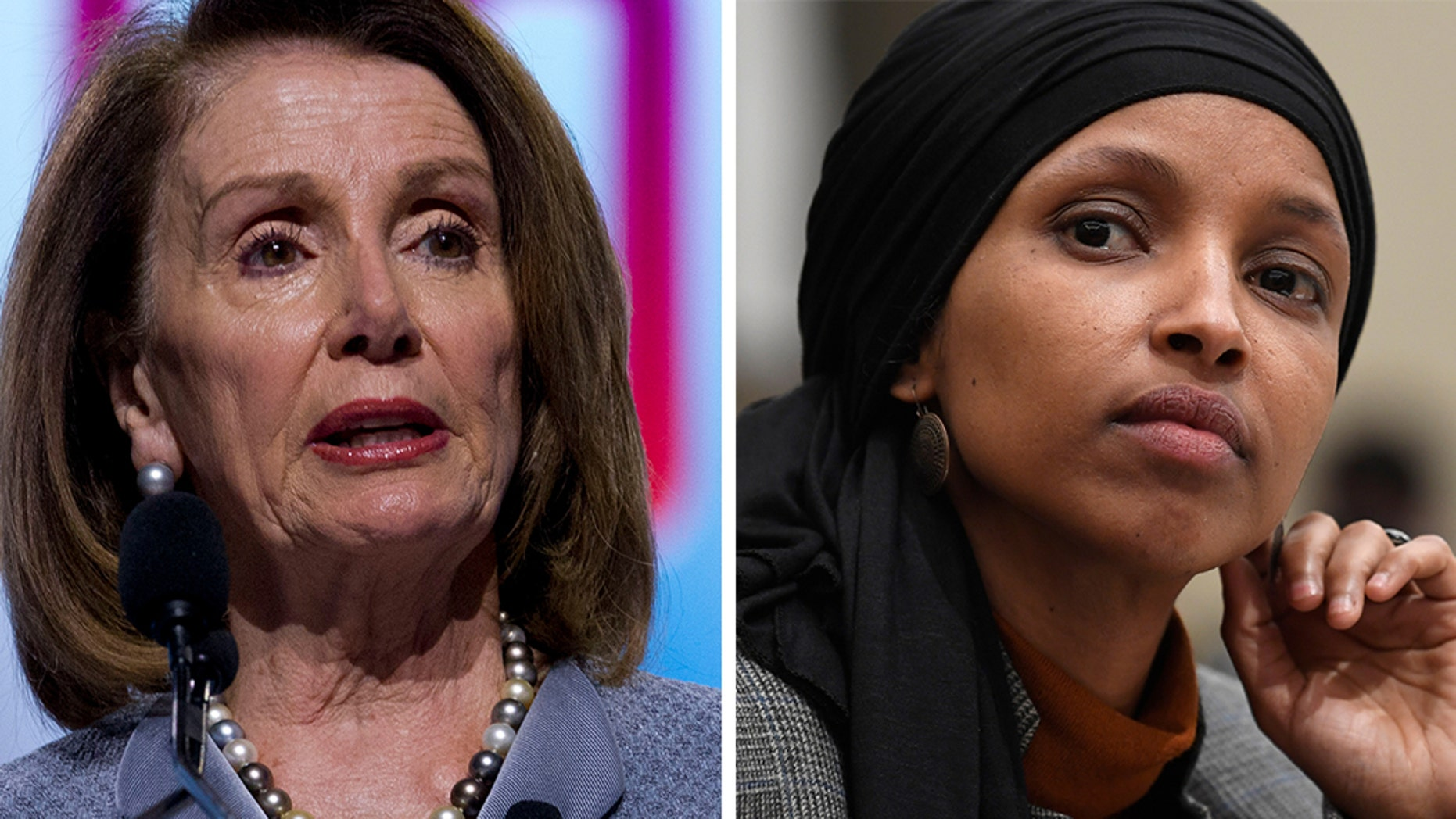 Speaker of the House Nancy Pelosi, D-Calif, undercut fellow Democrat Ilhan Omar, D-Minn., in speech Tuesday that apparently referred to her repeated anti-Semitic comments.