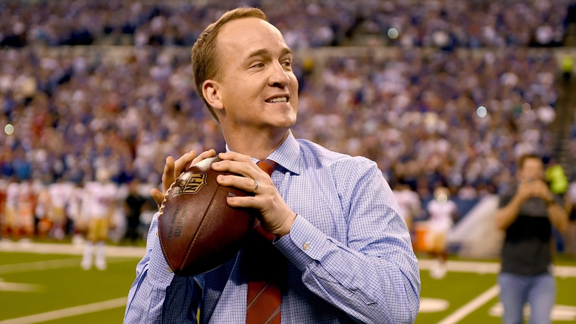 """Former NFL quarterback Peyton Manning has reportedly been approached by ESPN to fill their empty spot in the """"Monday Night Football"""" booth."""