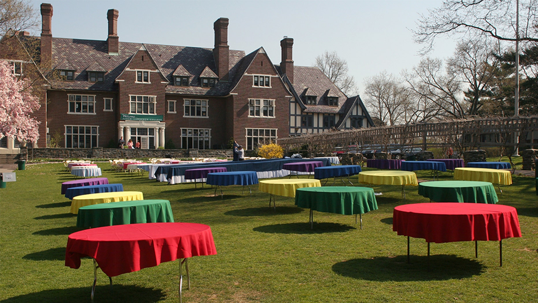 Sarah Lawrence College in Bronxville, N.Y., is a small liberal arts college. With a modest endowment, small seminar classes and a one-on-one tutorial teaching program, it has one of the most expensive tuitions in America. (Photo by Andrew Lichtenstein/Corbis via Getty Images)