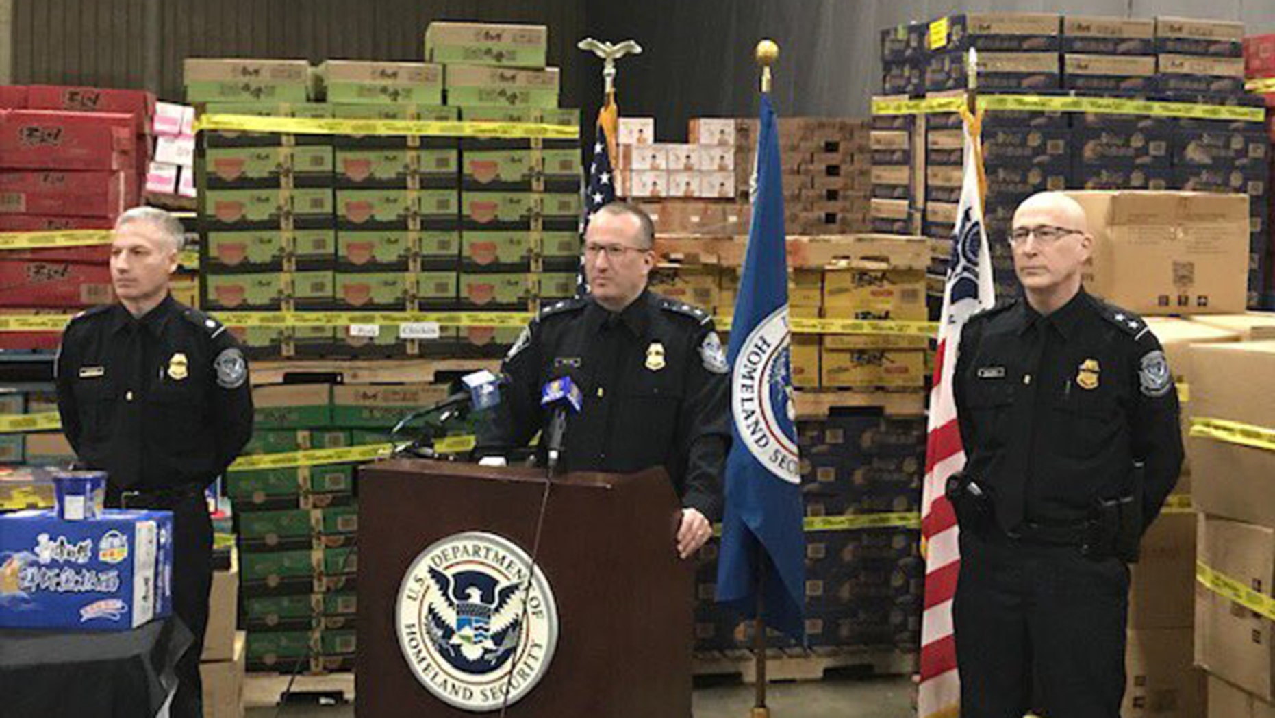 Customs and Border Protection announced the bust of 1 million pounds of illegal pork.