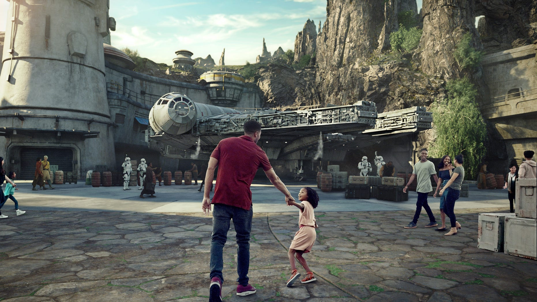 The massive 14-acre Star Wars section of the Disney's park will be the largest single-themed land expansion ever.