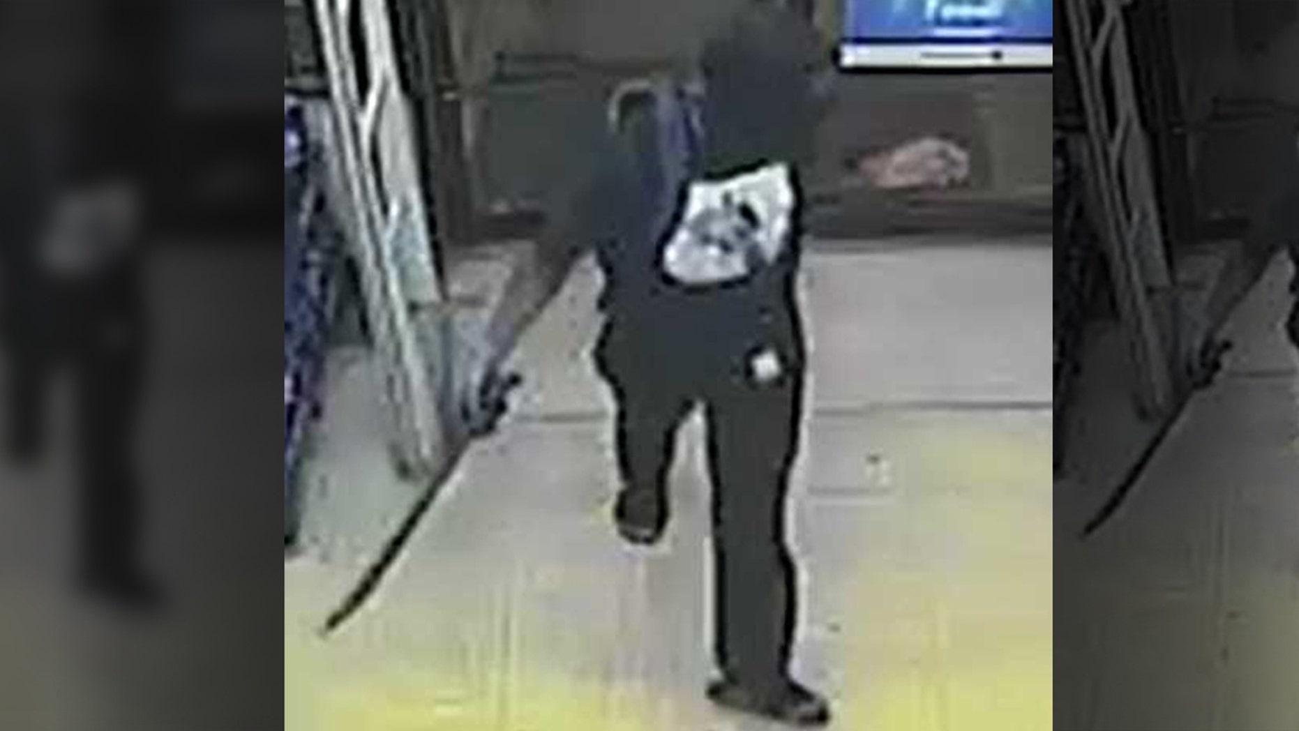 Two masked men burst into a Family Dollar in Birmingham, Ala., last week, police said.