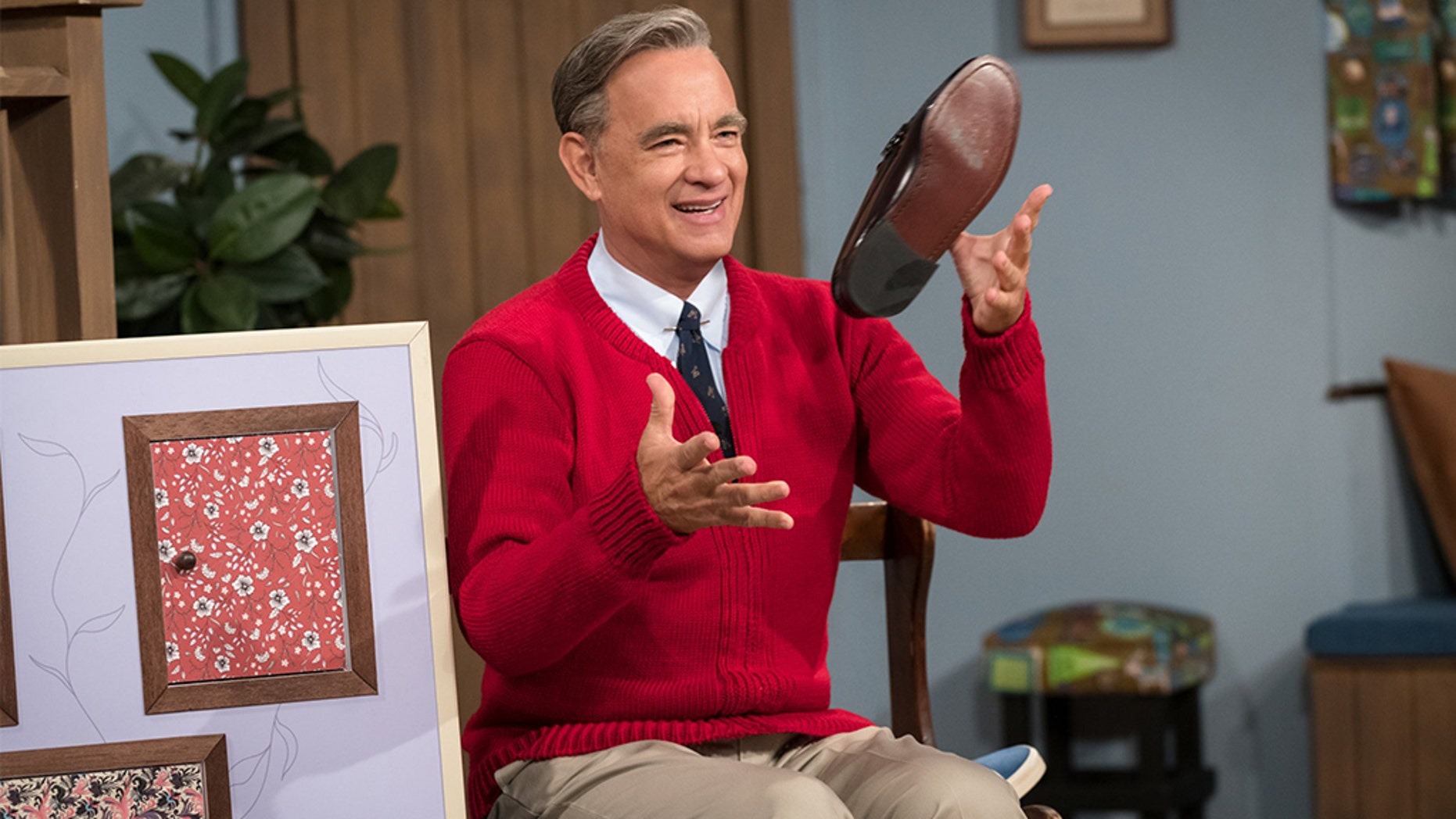 """Tom Hanks portrays Mr. Rogers in the upcoming drama """"A Beautiful Day in the Neighborhood."""""""