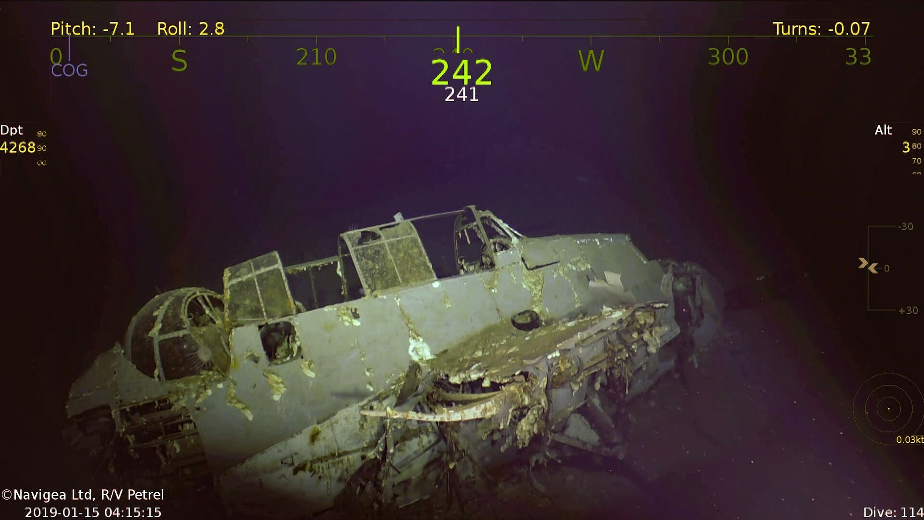 The USS Wasp sank on Sept. 15, 1942.