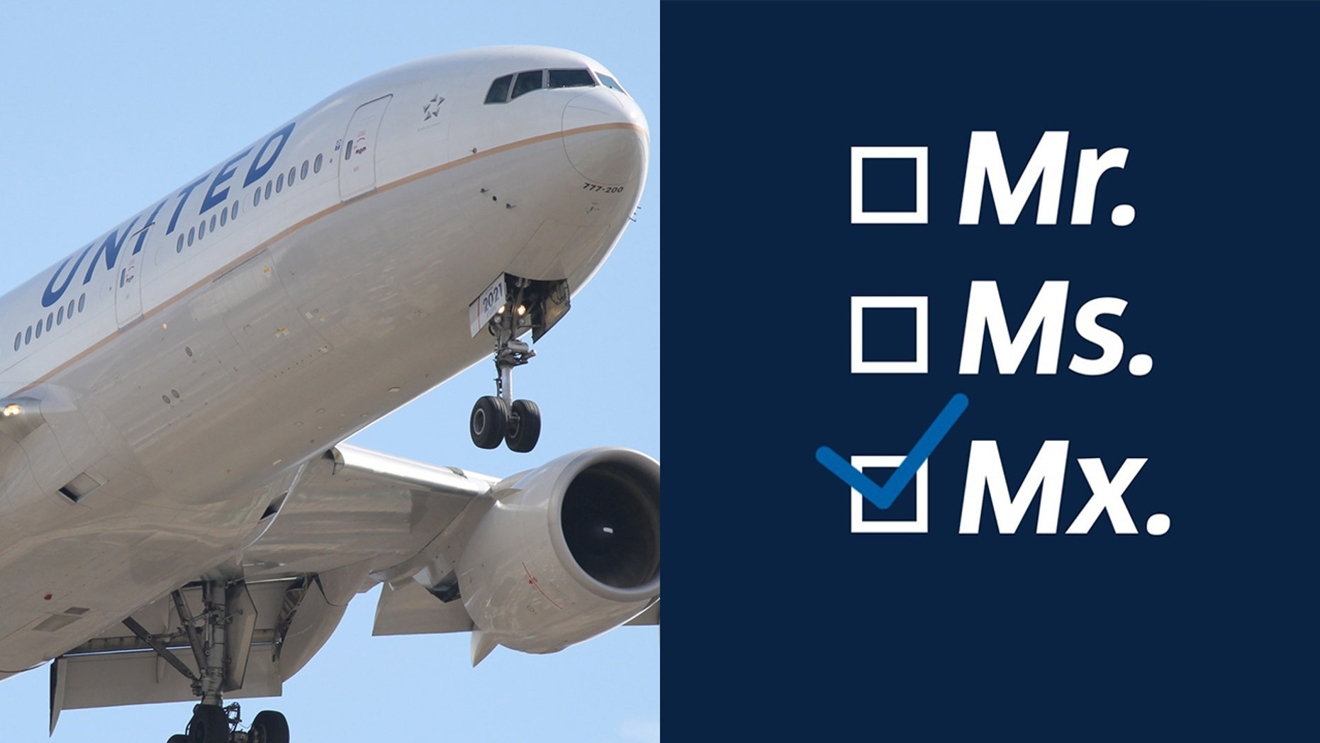 United Airlines offering fliers new gender options when they book a flight