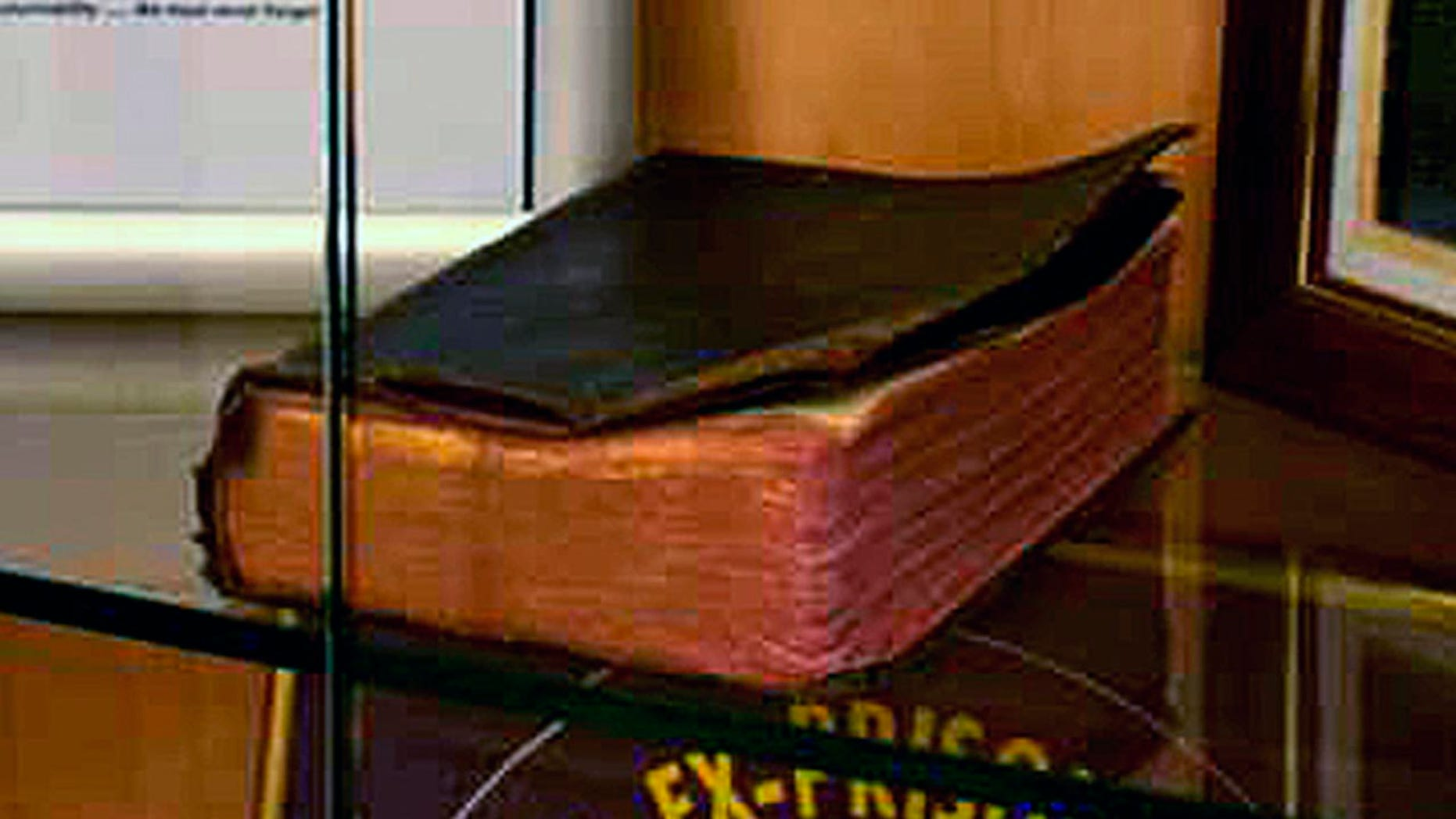 A Bible donated by a World War II veteran on display in a Manchester VA Medical Center memorial is being targeted by the Military Religious Freedom Foundation.