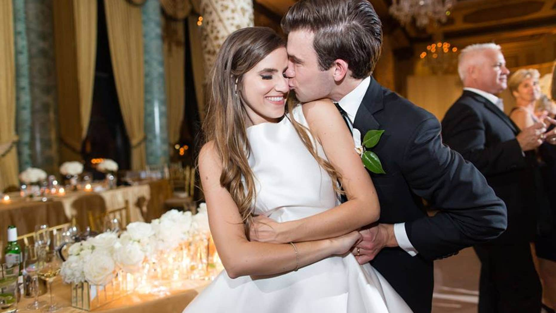 Christen with her husband, Sam, on their wedding day.