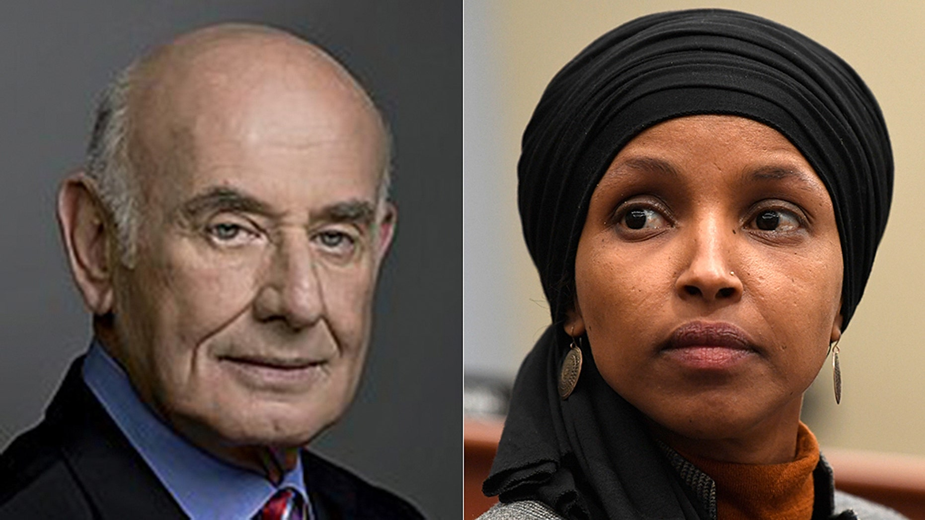 Yaakov Peri, the former head of the Israeli security agency Shin Bet and Rep. Ilhan Omar