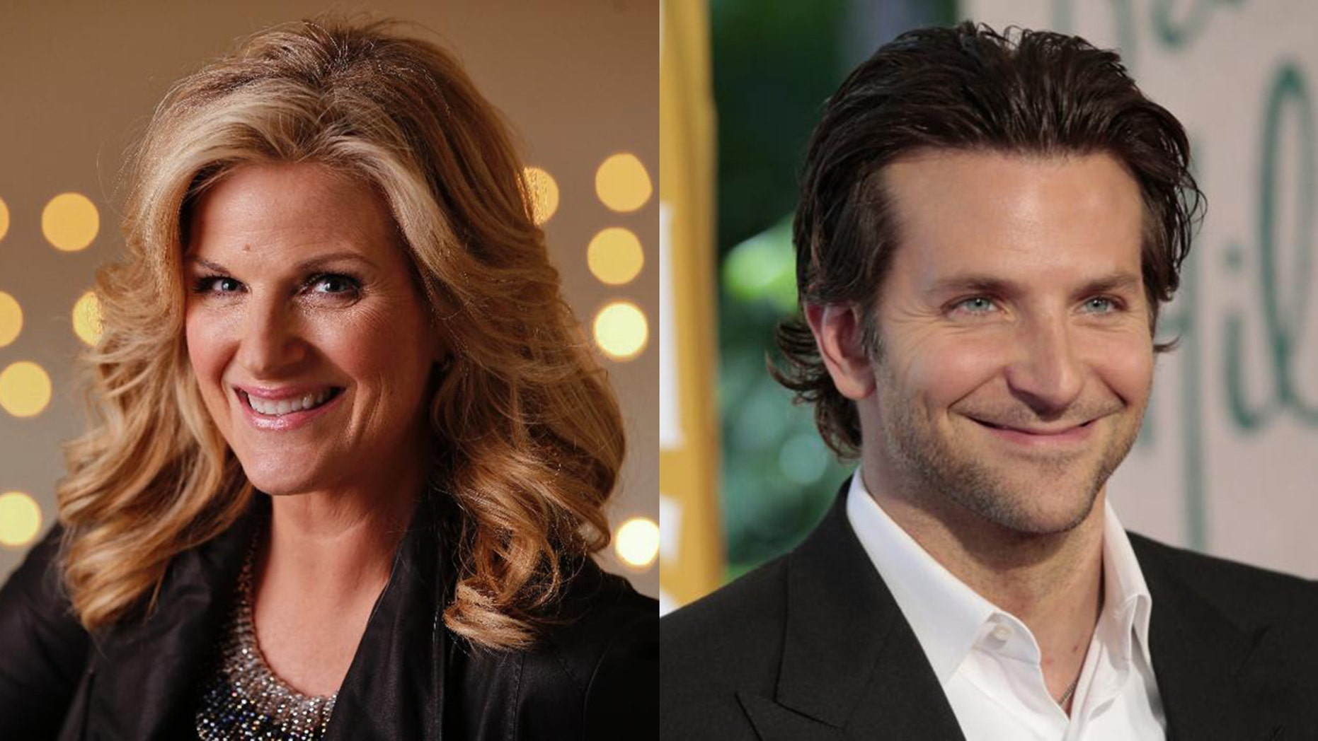 Country star Trisha Yearwood, left, said she was star-struck by actor Bradley Cooper when she met him during her and husband Garth Brooks'