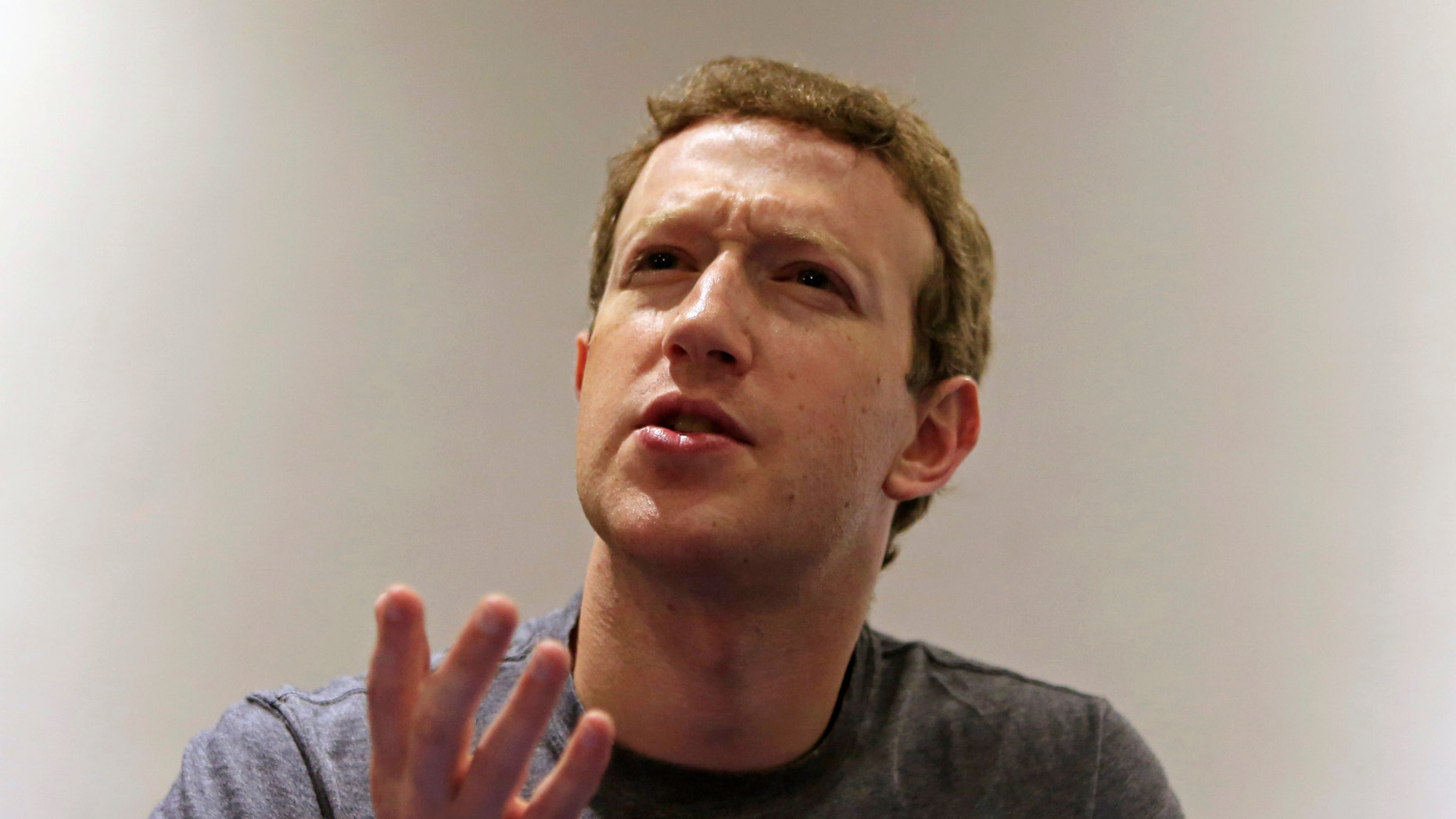 File photo - President, founder and CEO of Facebook Mark Zuckerberg speaks during a Reuters interview at the University of Bogota January 14, 2015.