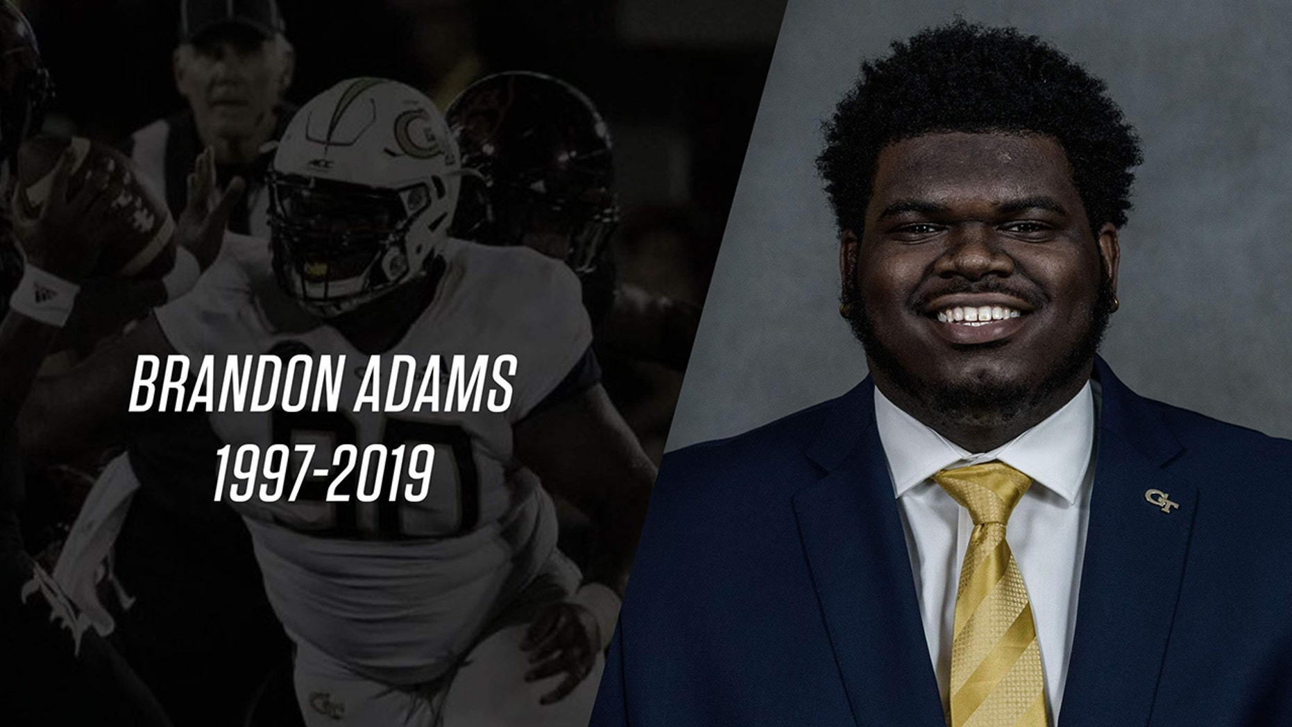 Georgia Tech defensive tackle Brandon Adams died Saturday at age 21, according to school officials.