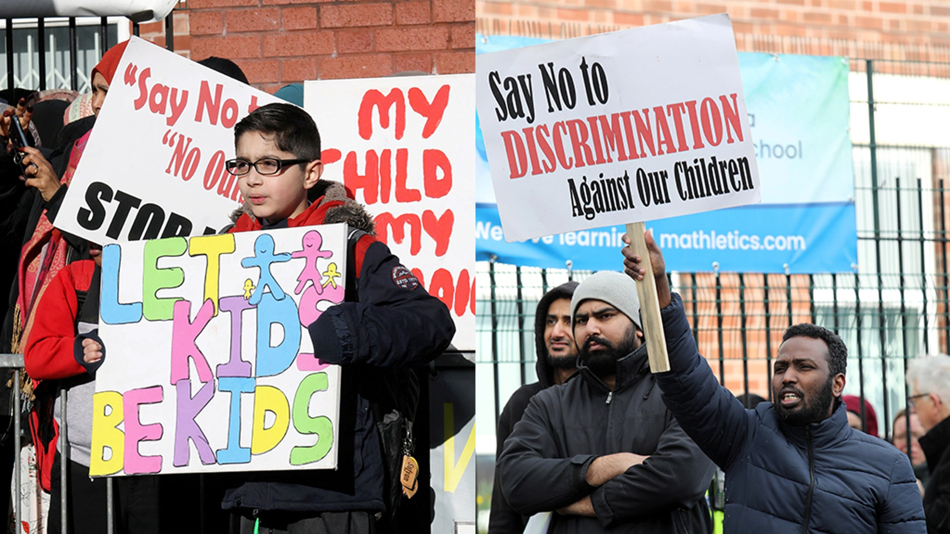 Image result for primary school birmingham protest