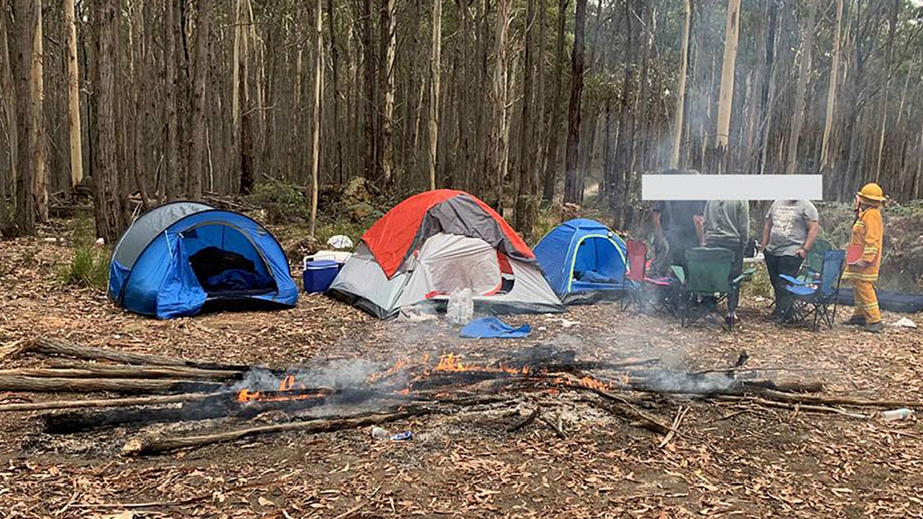 The Woodend Country Fire Authority (CFA) slammed a group of young men who were first-time campers in a Facebook post.