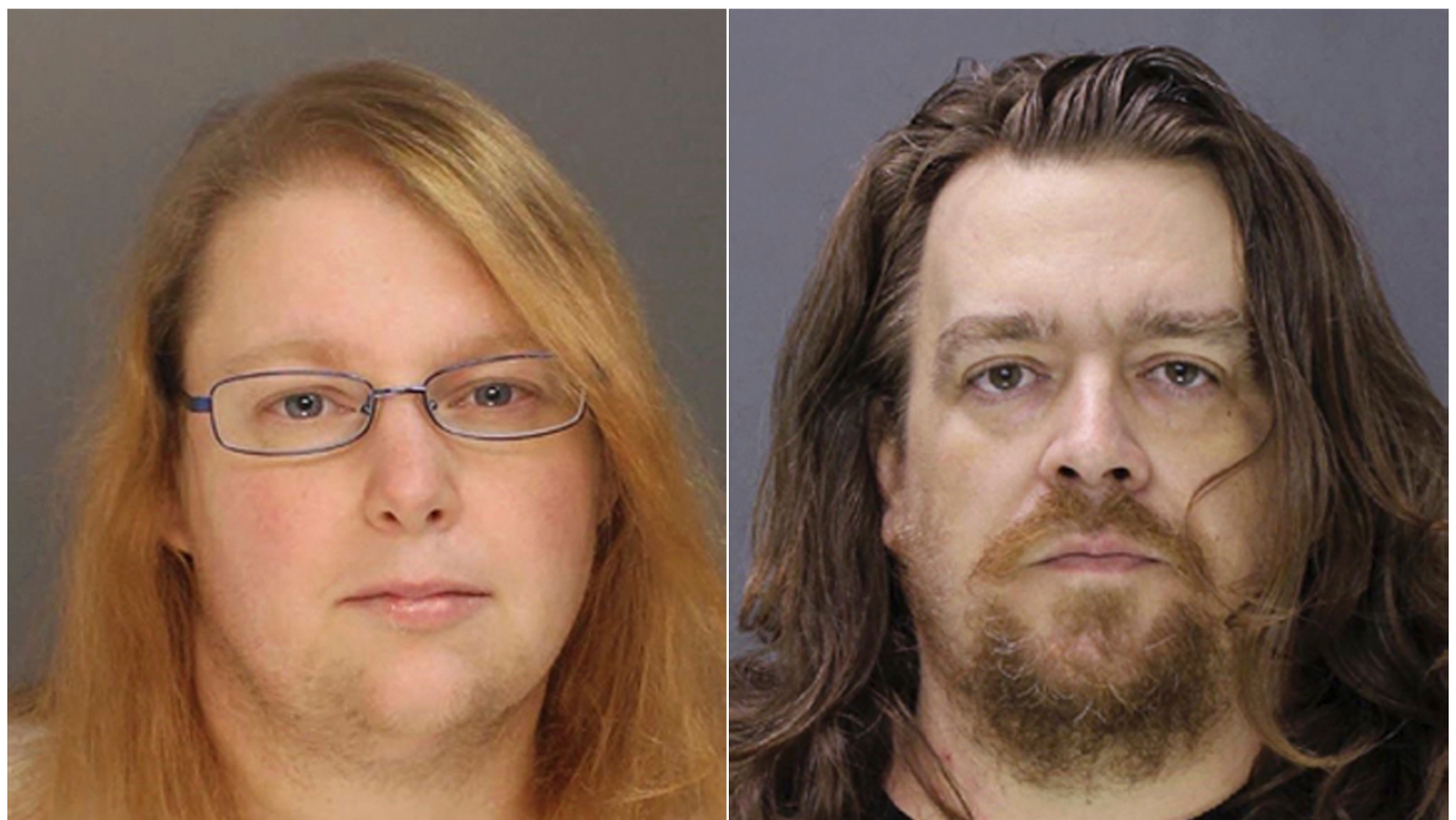 FILE - This combination of file photos provided on Sunday, Jan. 8, 2017, by the Bucks County District Attorney shows Sara Packer, left, and Jacob Sullivan. Sullivan pleaded guilty Tuesday, Feb. 19, 2019, to first-degree murder in the 2016 death of 14-year-old Grace Packer. Sullivan pleaded guilty to all charges in the 2016 death of Grace Packer. The penalty phase of his trial opens Friday, March 15, 2019 outside Philadelphia. A jury will hear testimony about Sullivan's crimes before deciding on a sentence of either life in prison or death. (Bucks County District Attorney via AP, File)