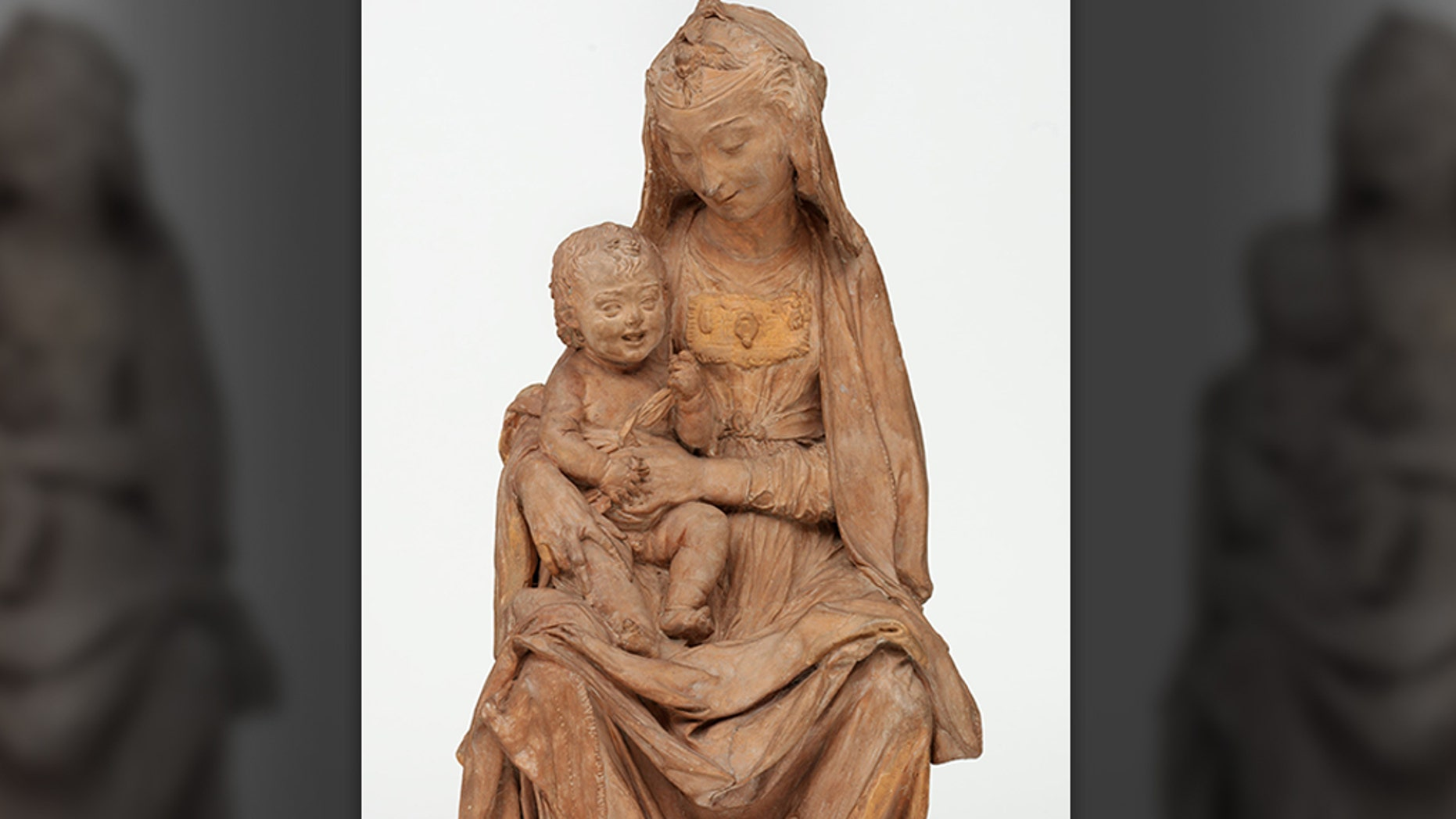 """The Virgin with the Laughing Child"" sculpture, which was long credited to Italian artist Antoni Rossellino, is now said to have been created by Leonardo da Vinci in 1472."