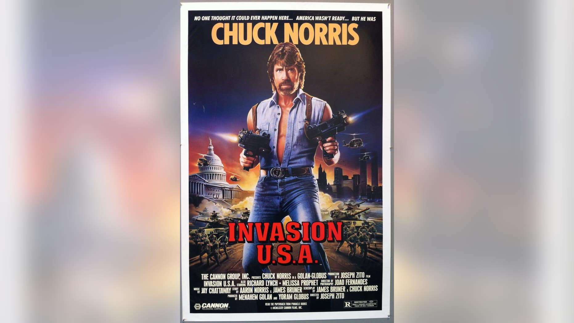 A professor said the photo of Chuck Norris undermined the public trust.