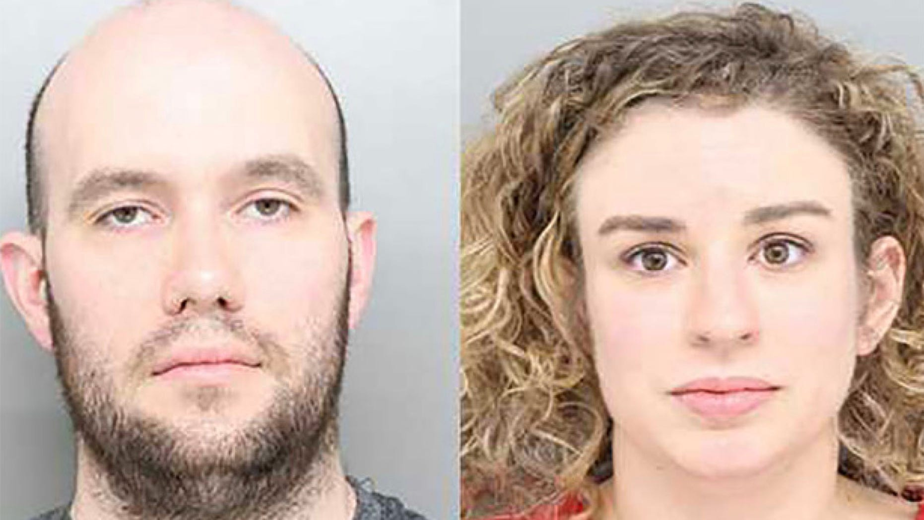 Michael Mathisen, 30, (l.) and Lauren Wilder, 31, have been accused by cops of having sex in public on the Cincinnati Ferris Wheel Thursday. (Hamilton County Sheriff's Office)