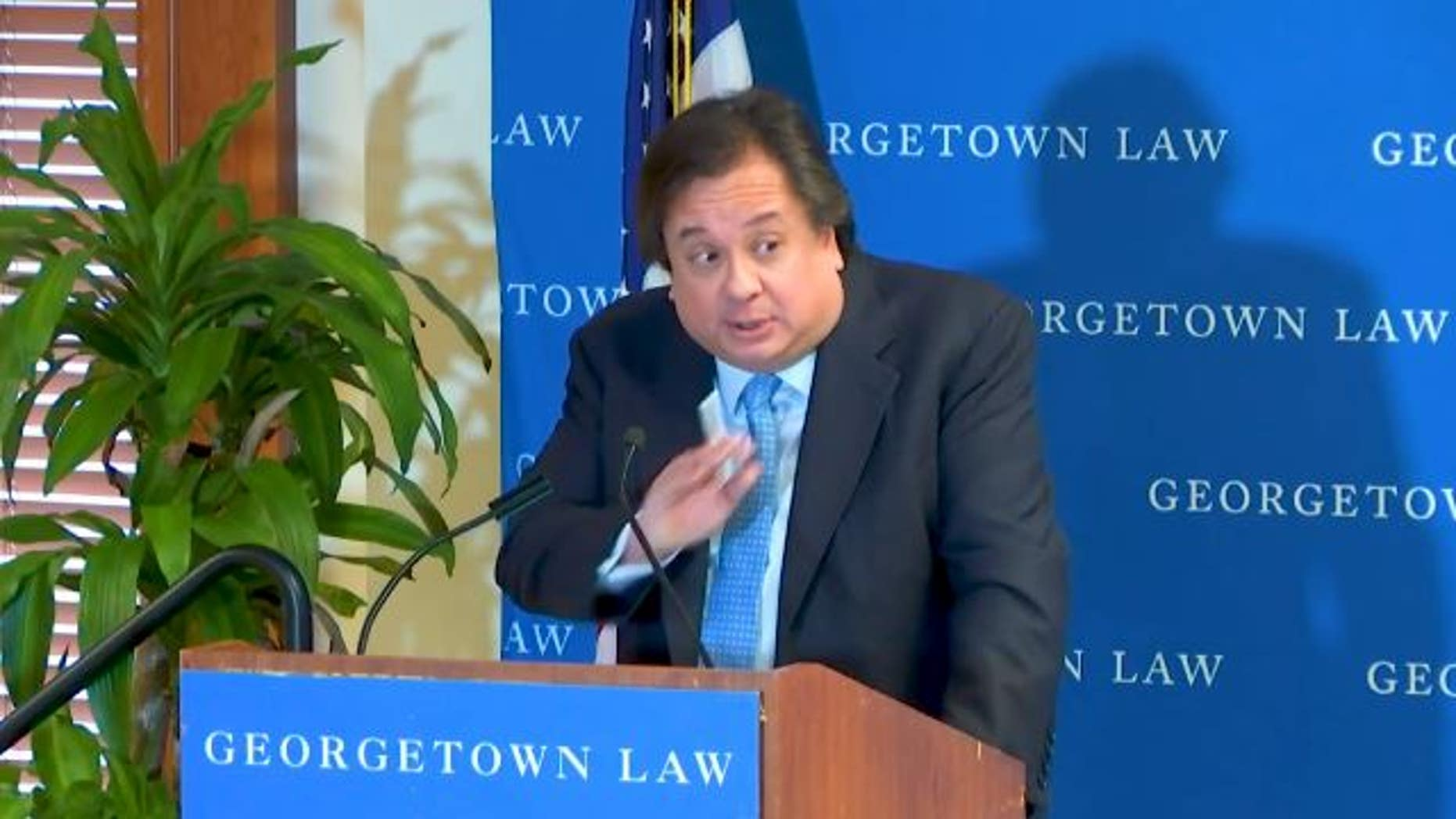 George Conway at a recent speaking engagement at Georgetown Law.