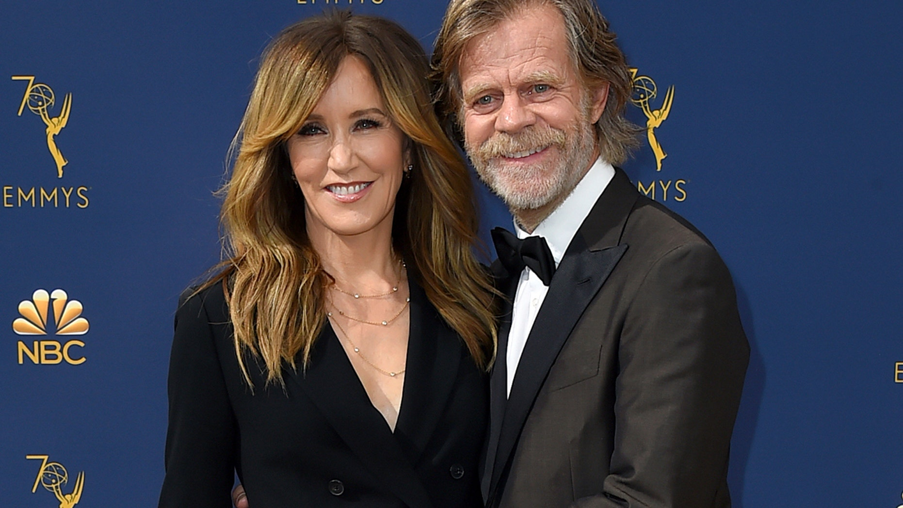 """Shameless"" actor William H. Macy turned 69 Wednesday, only one day after his wife Felicity Huffman was charged for her alleged role in a nationwide college admissions scam."