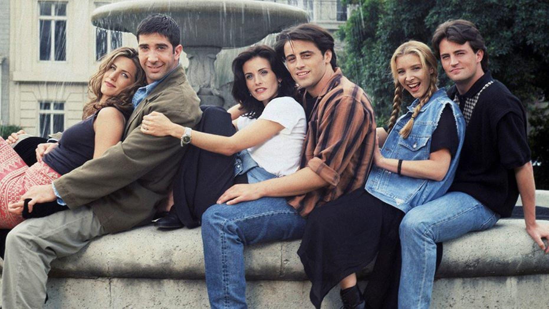 Jennifer Aniston as Rachel Green, David Schwimmer as Ross Geller, Courteney Cox as Monica Geller, Matt LeBlanc as Joey Tribbiani, Lisa Kudrow as Phoebe Buffay, Matthew Perry as Chandler Bing.