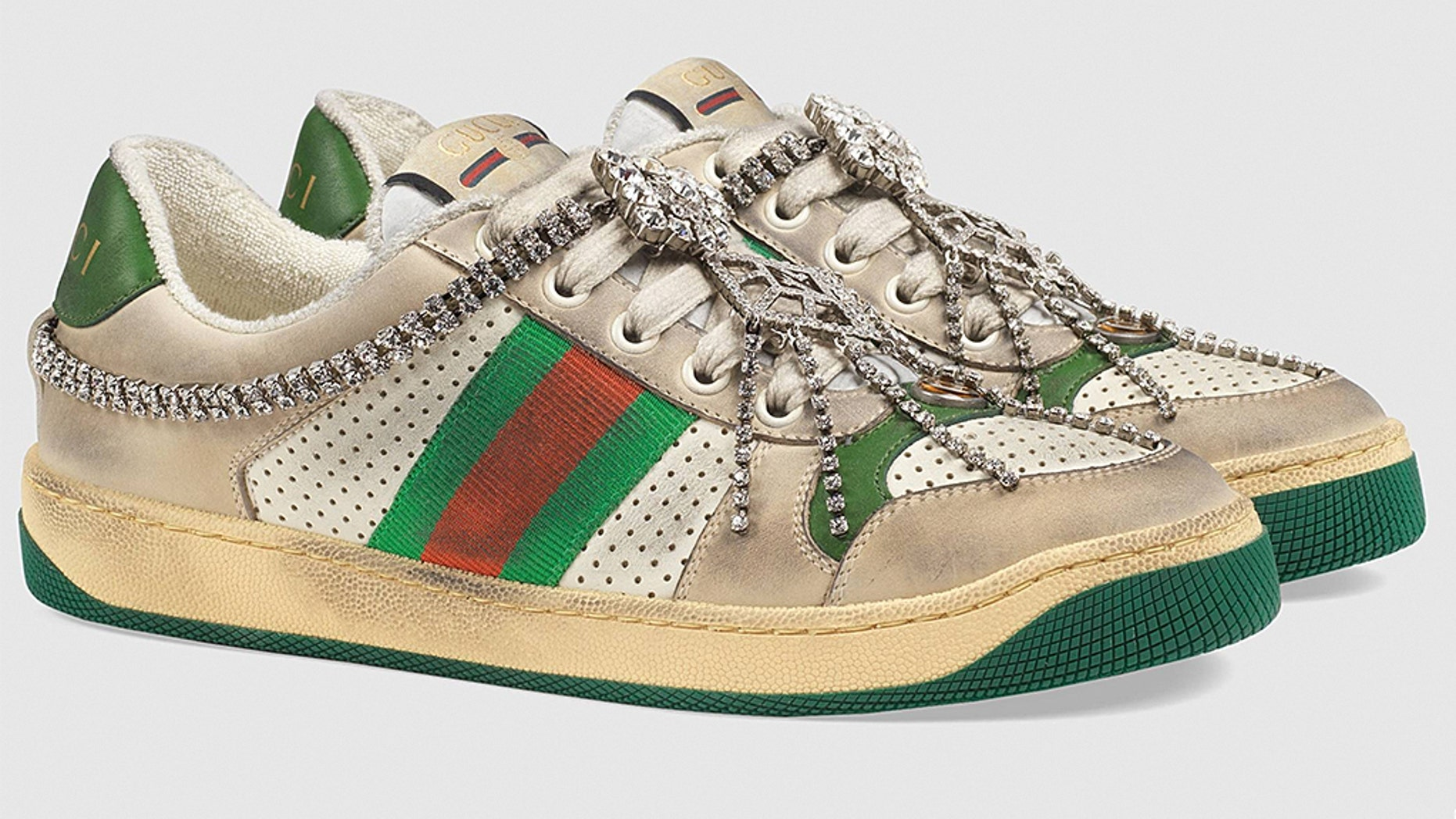 4533b3860 Gucci's $900 'dirty' sneakers slammed on Twitter | Fox News