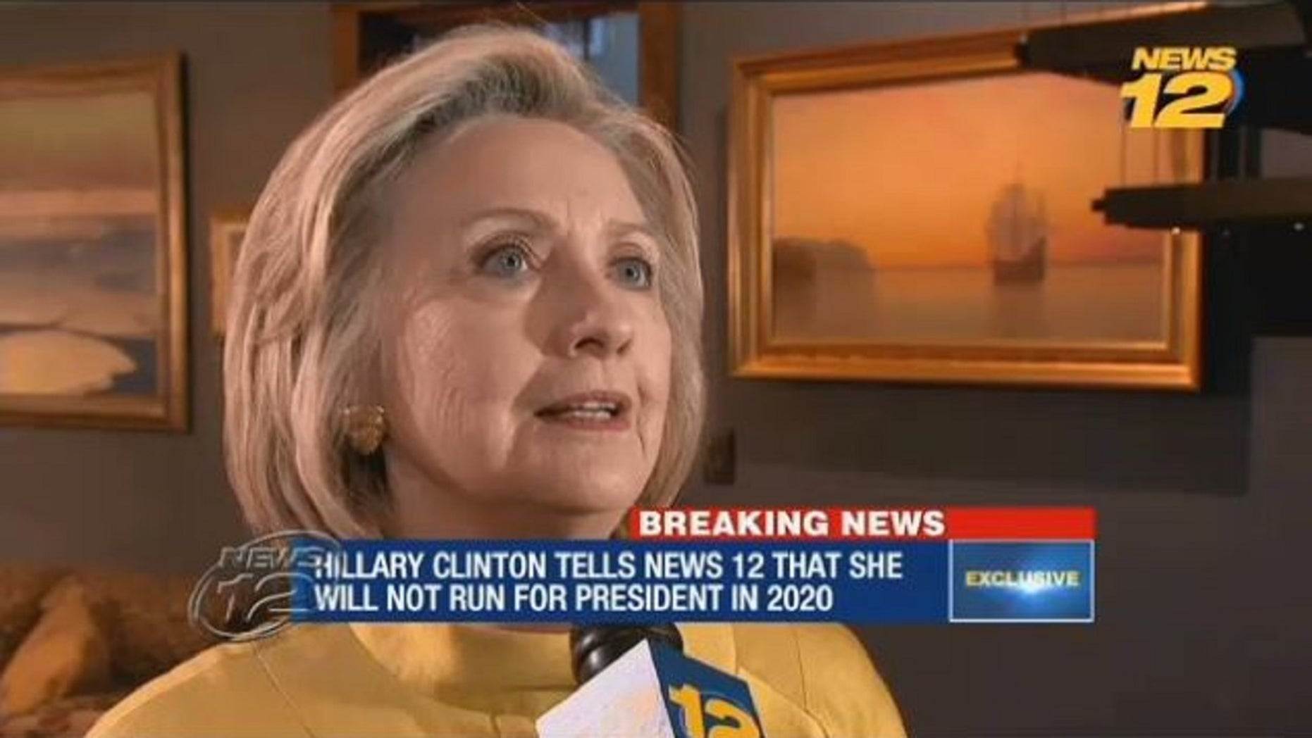 Hillary Clinton ruled out 2020 presidential bid in an interview with News 12 Westchester on Monday.