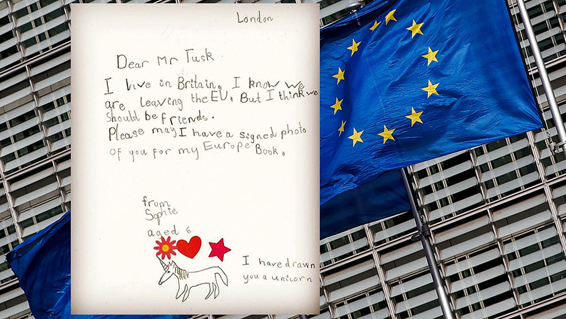 In the chaotic weeks approaching Britain's exit from the European Union, officials were touched by a letter from a six-year-old girl that apparently put things in perspective<br>