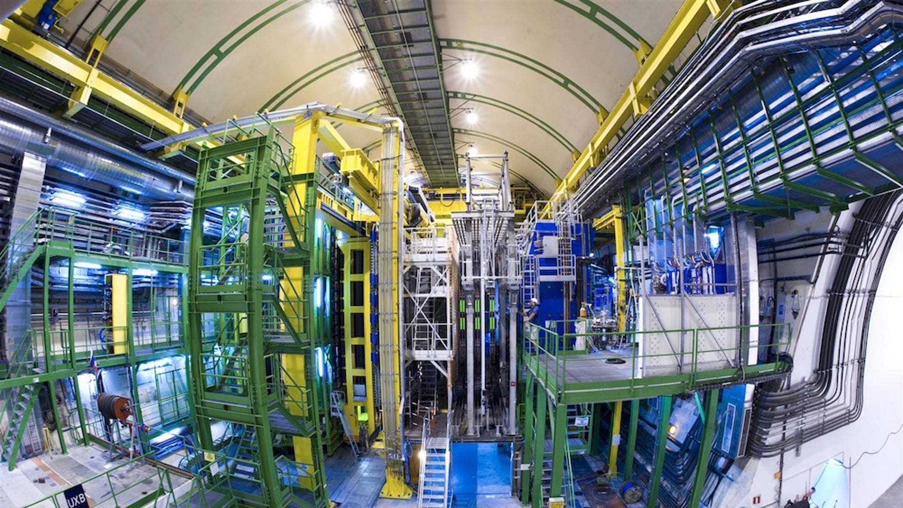 The LHCb detector at CERN.