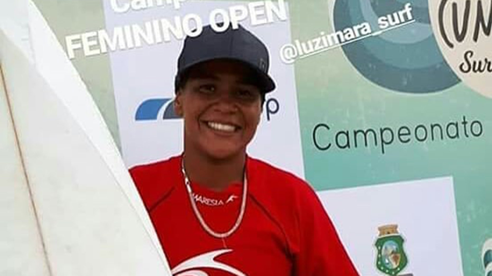 Brazilian surfer Luzimara Souza, 23, died after she was struck by lightning while training at a beach in central Brazil.