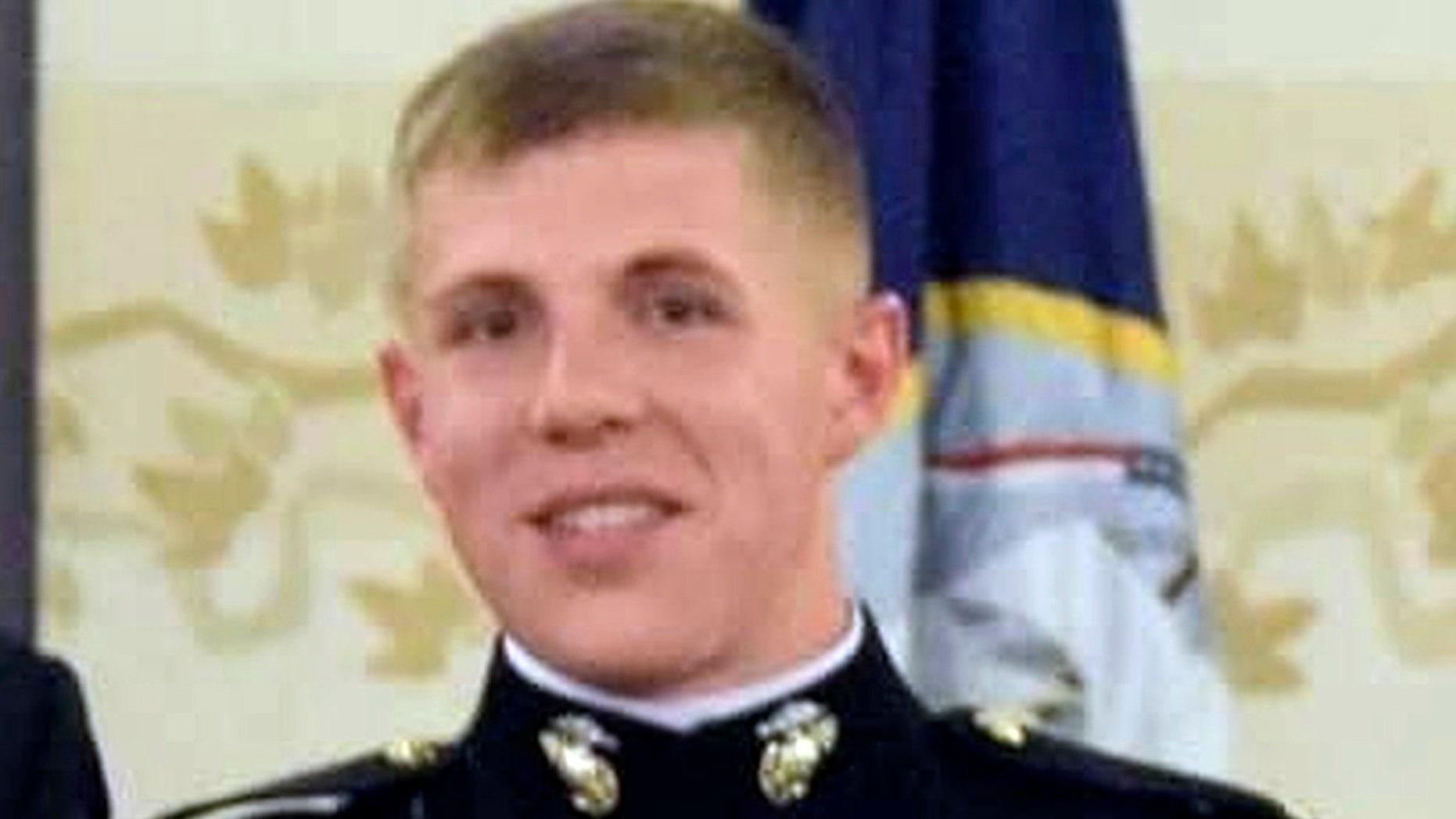 Search-and-rescue teams located First Lt. Matthew Kraft's car Firday night as crews continue to search California's Sierra Nevada for the missing Camp Pendleton Marine, authorities said Saturday. (U.S. Marine Corps via AP)