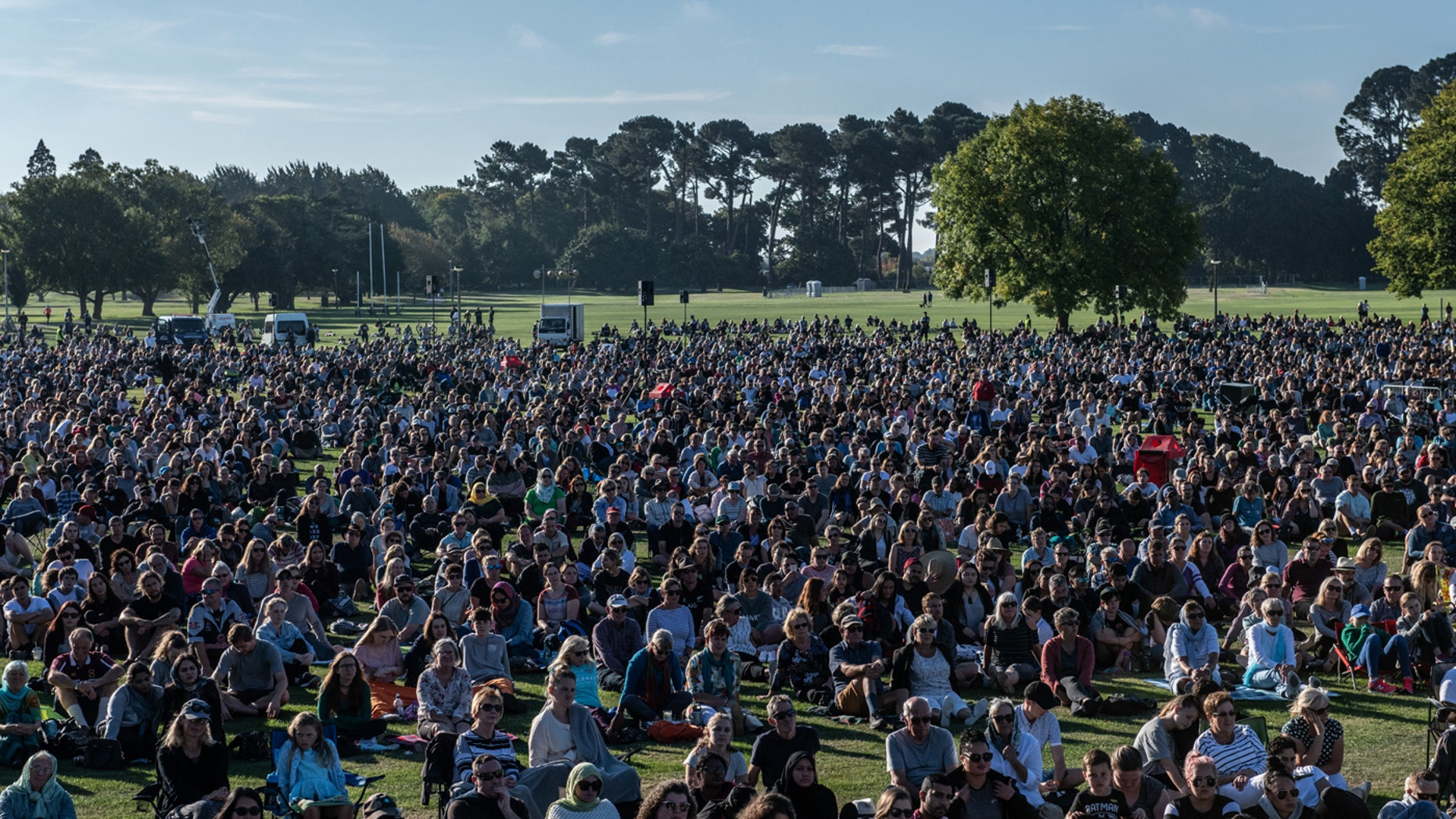 People take part in a vigil to remember the victims of the Christchurch mosque attacks, on March 24, 2019, in Christchurch, New Zealand.