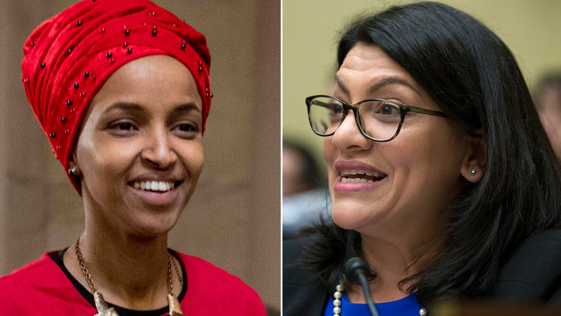 Democratic Reps. Ilhan Omar, D-Minn., and Rashida Tlaib of Michigan