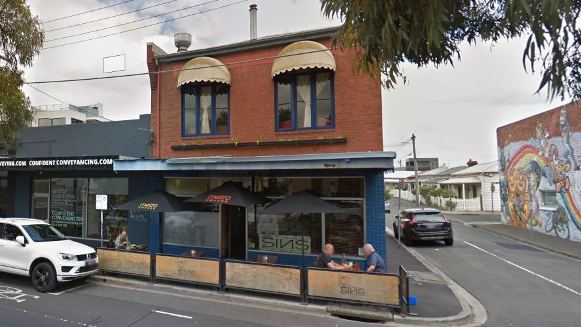Seddon Deadly Sins cafe is known for writing puns and jokes on a sign outside the store and uploading them to Facebook.