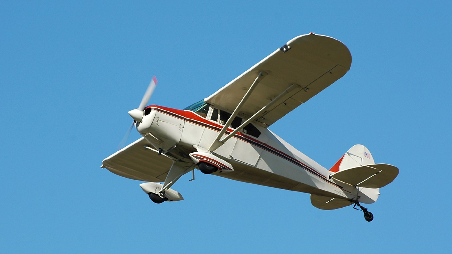 Small planes (comparable to the one pictured here) were flipped over and damaged in the thunderstorm winds that swept Grand Prairie, Texas, early Wednesday morning.
