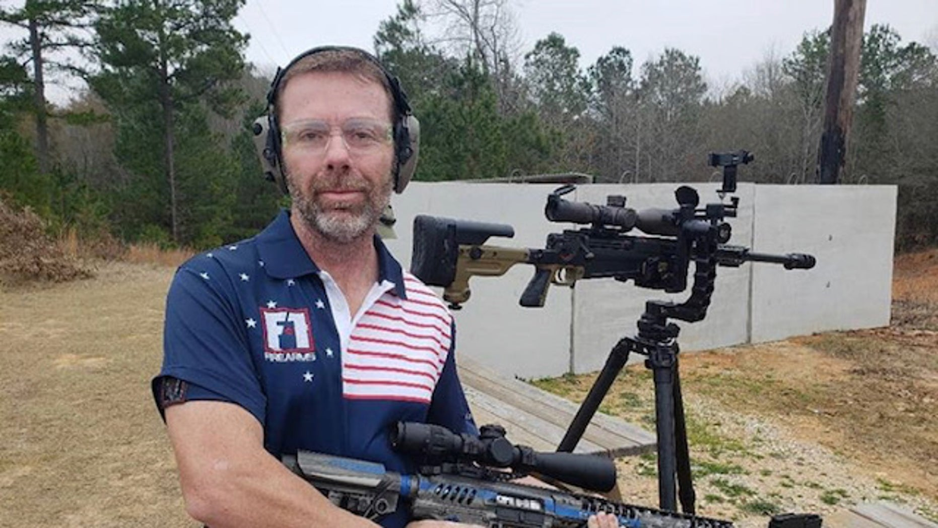 "David Smith, a pro shooter with Parkinson's Disease, has developed what he called ""gun therapy."""